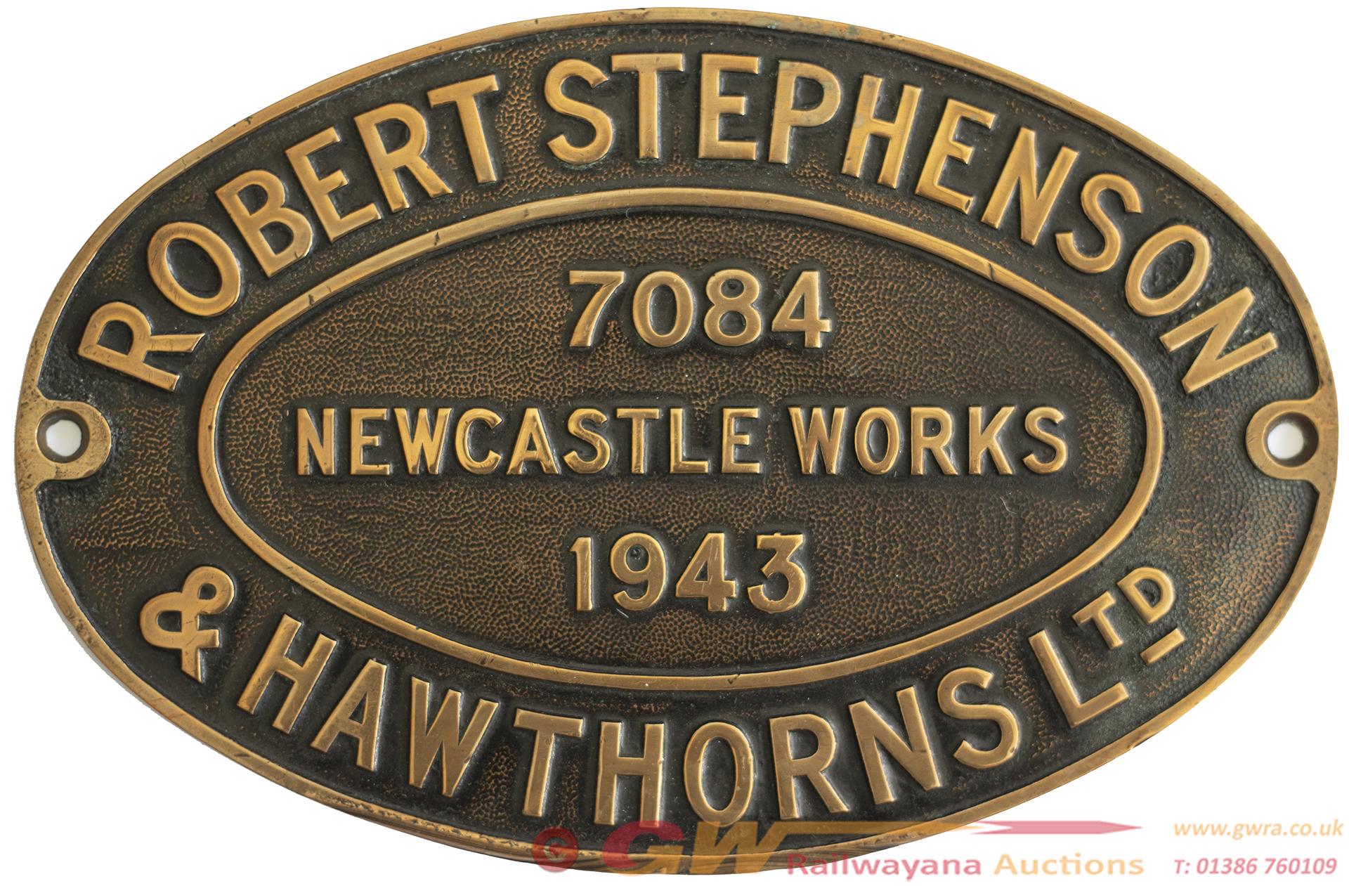 <P>Worksplate ROBERT STEPHENSON & HAWTHORNS LTD
