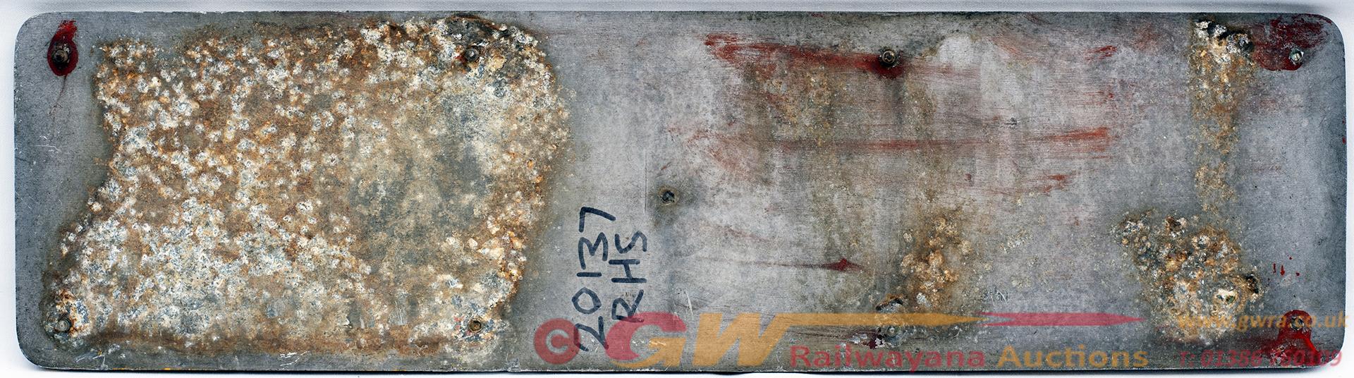 Railfreight Sectorisation Cast Aluminium Plate