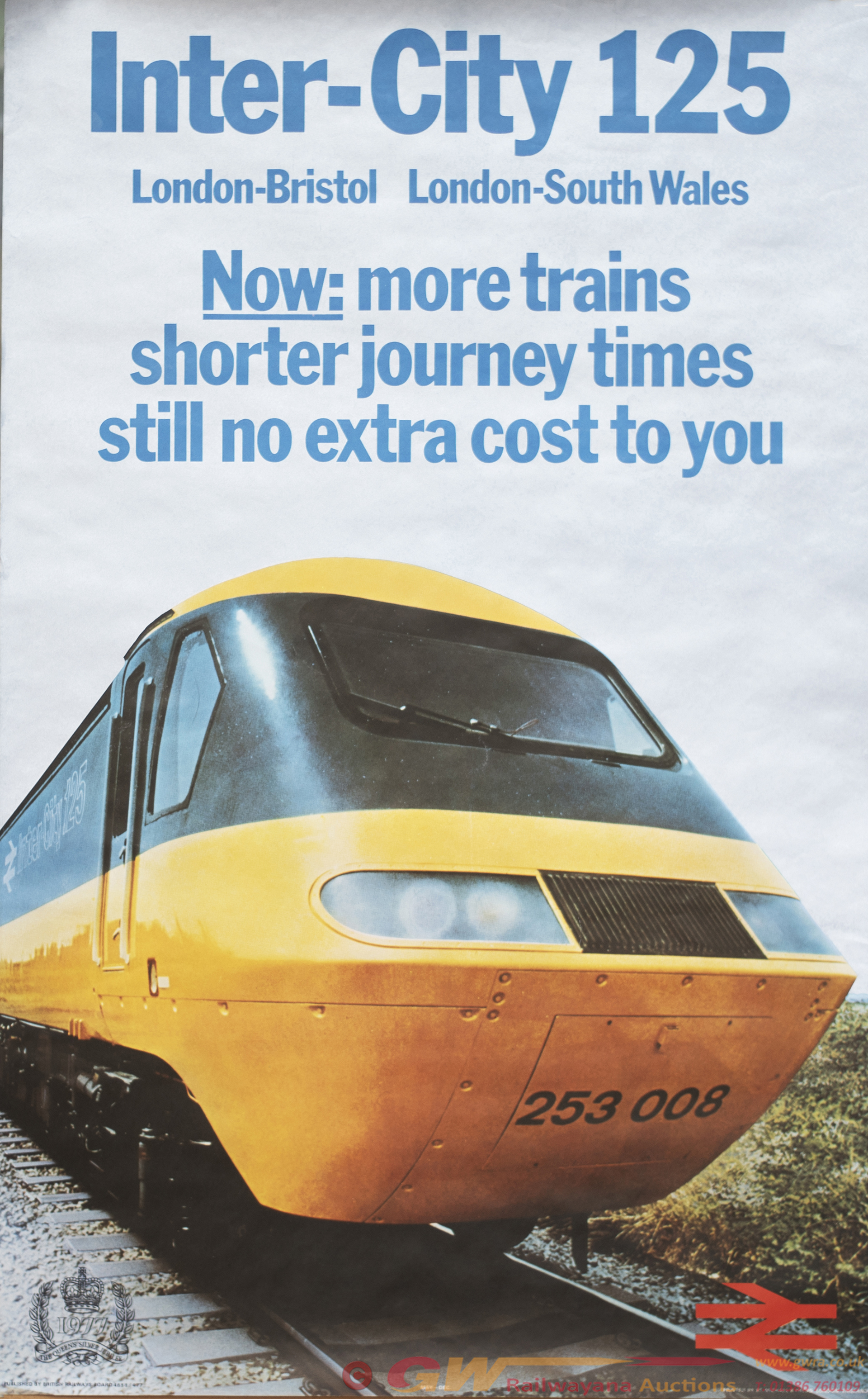 Poster BR INTER CITY 125 With Image Of HST Power