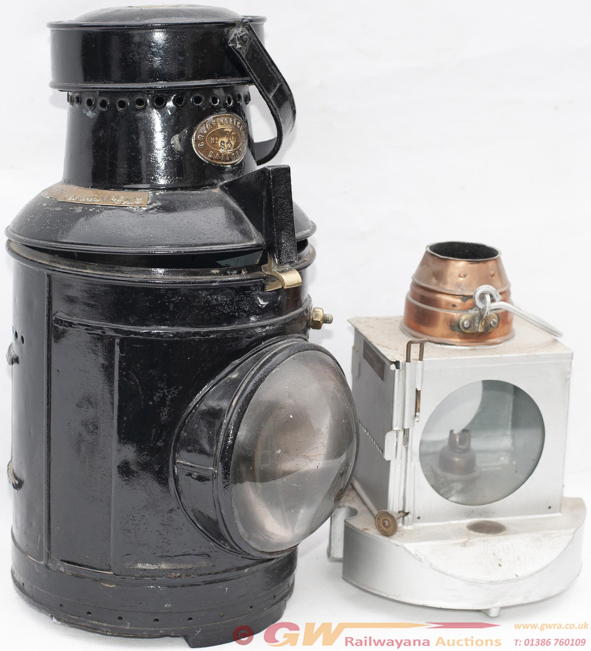 Great Northern Railway Large Signal Lamp Brass
