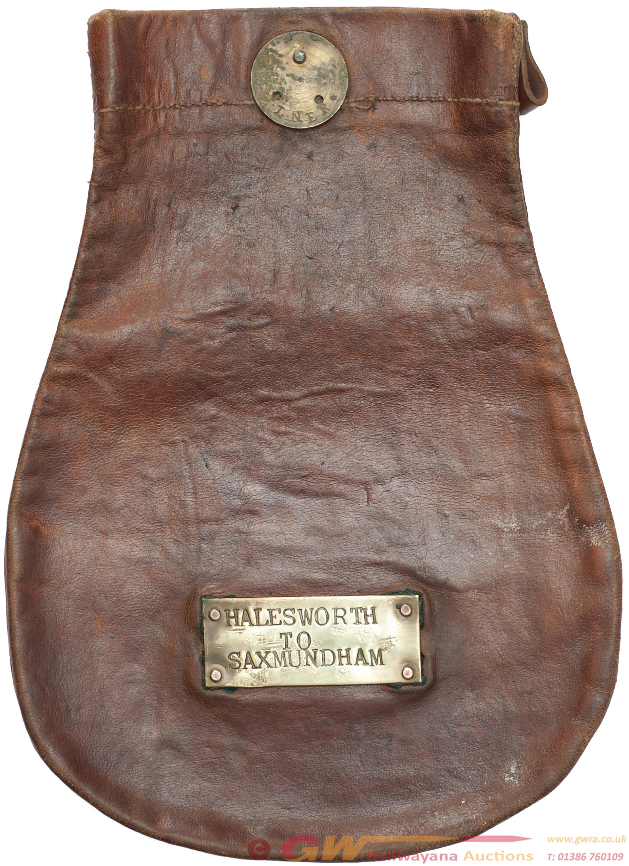 LNER Leather Cash Bag Brass Plated LNER And