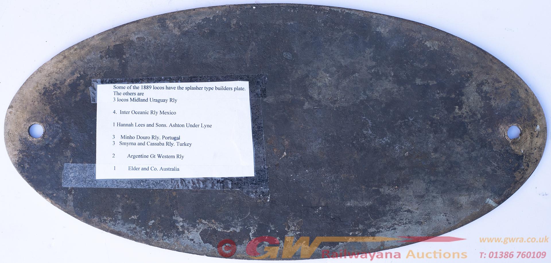 Worksplate BEYER PEACOCK & CO LTD GORTON FOUNDRY