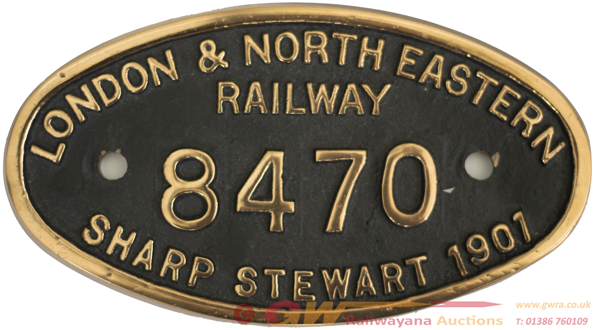 Worksplate LONDON & NORTH EASTERN RAILWAY SHARP