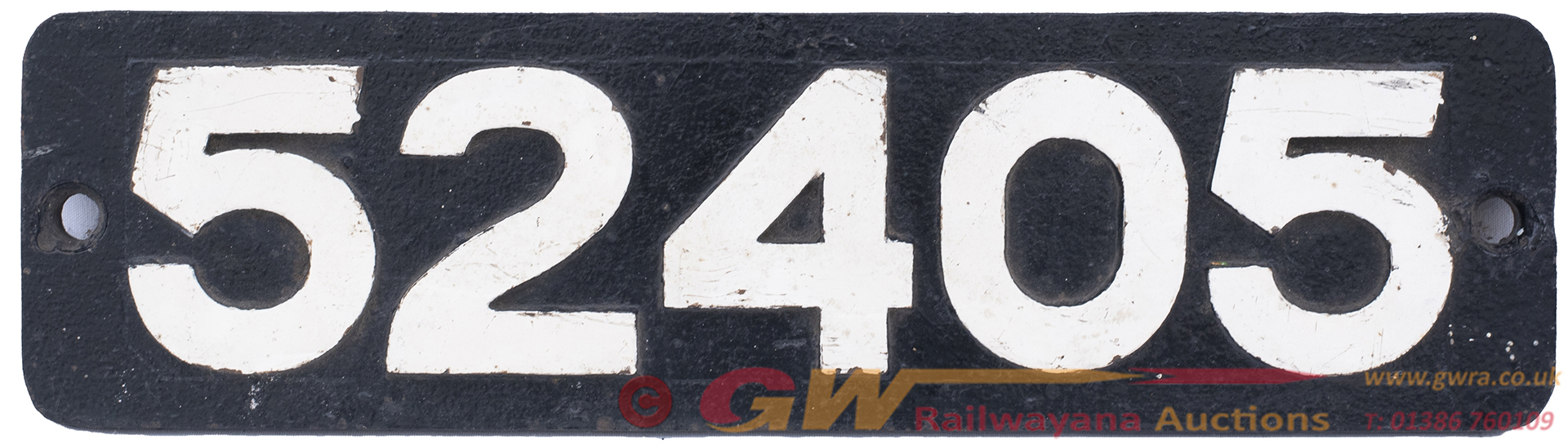 Smokebox Numberplate 52405 Ex LYR Aspinall Class
