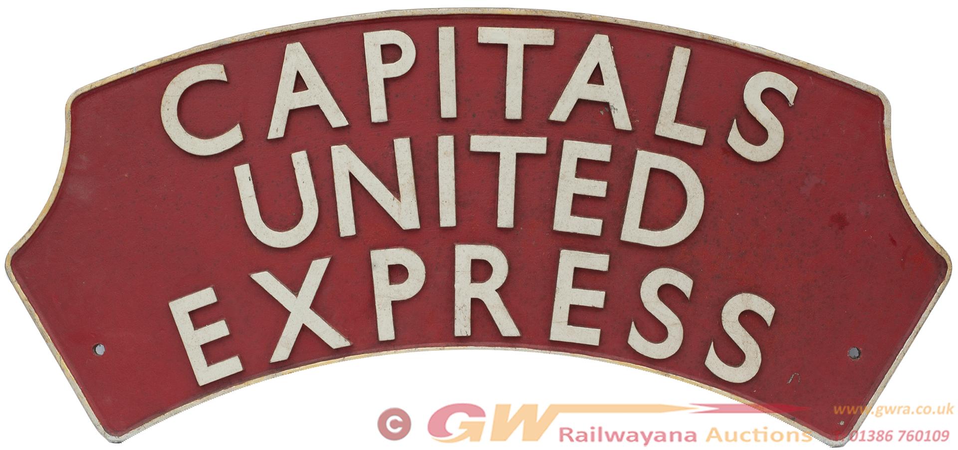 British Railways Locomotive Headboard CAPITALS