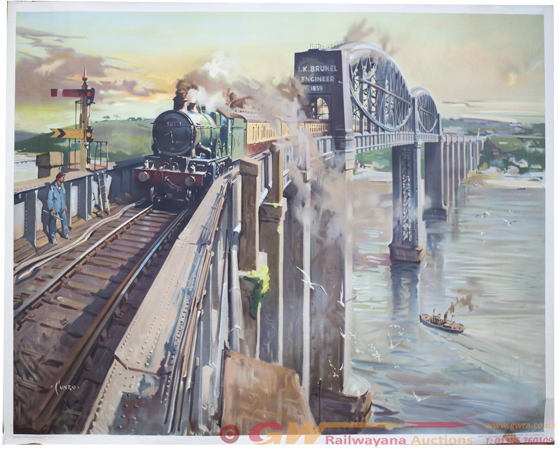 Poster BR(W) ROYAL ALBERT BRIDGE SALTASH By