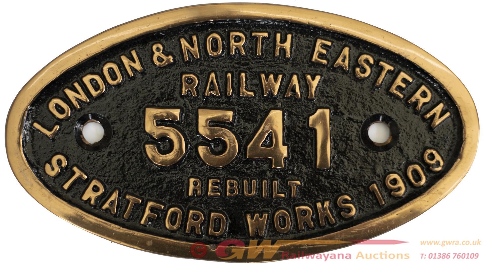 Worksplate LONDON & NORTH EASTERN RAILWAY REBUILT