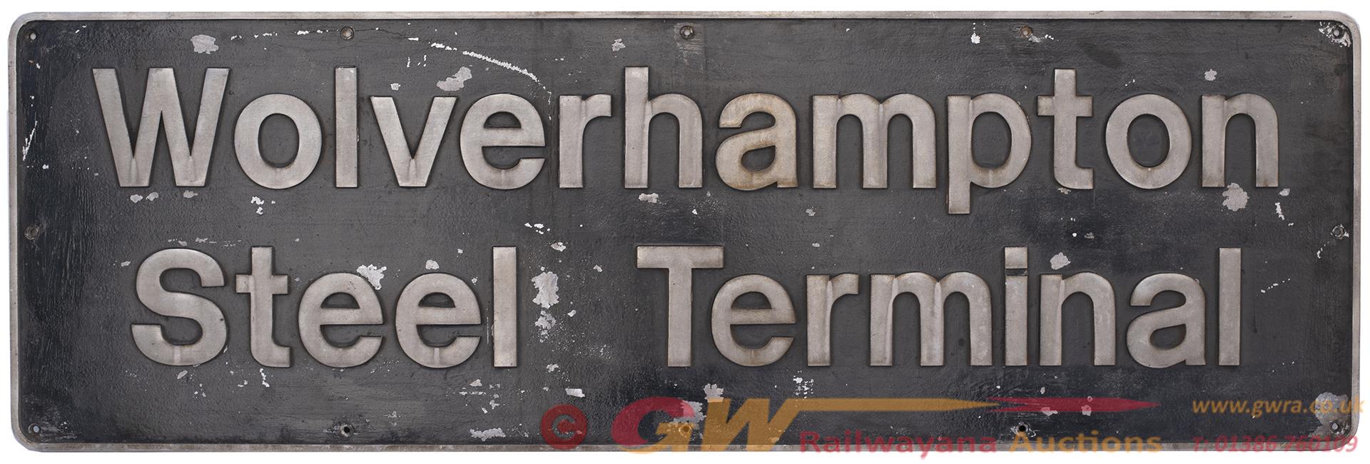 Nameplate WOLVERHAMPTON STEEL TERMINAL Ex BR Class