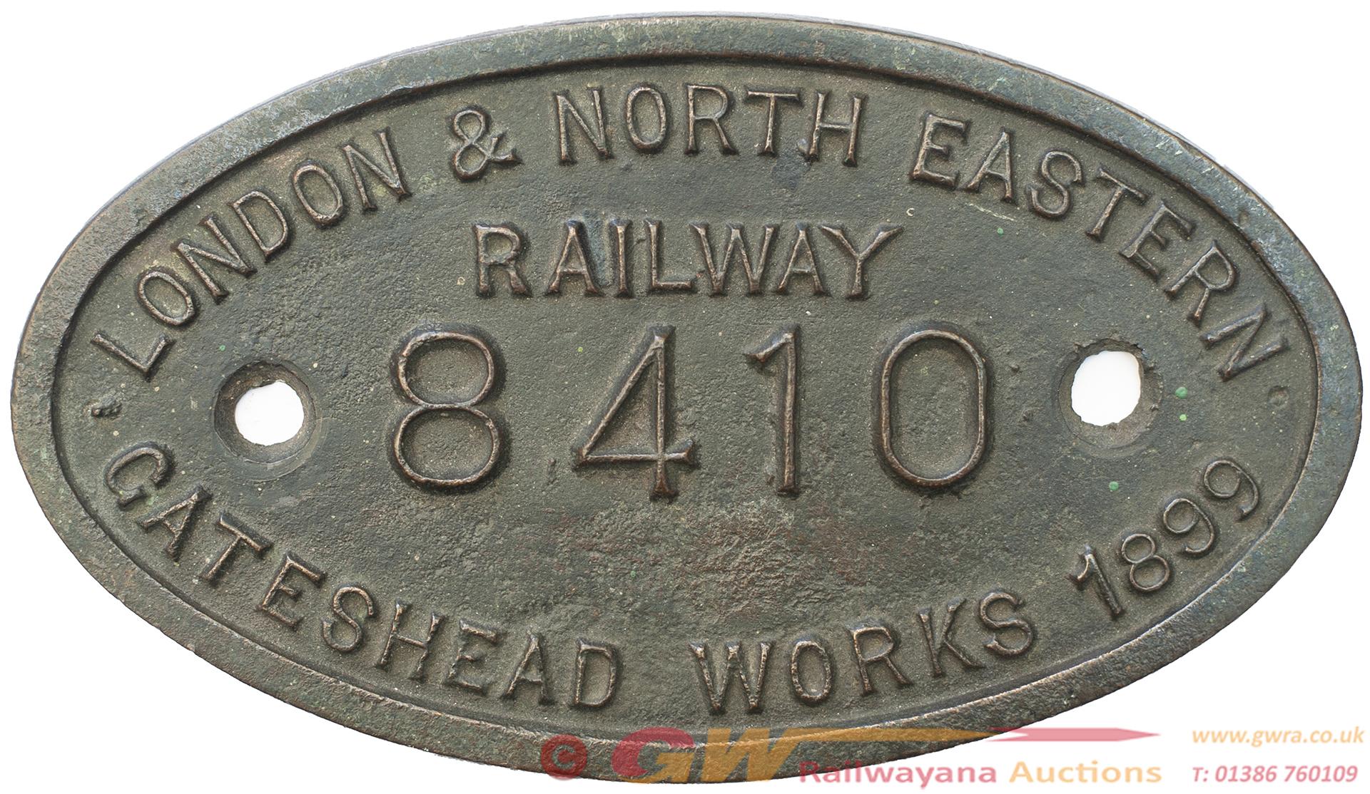 Tenderplate LONDON & NORTH EASTERN RAILWAY