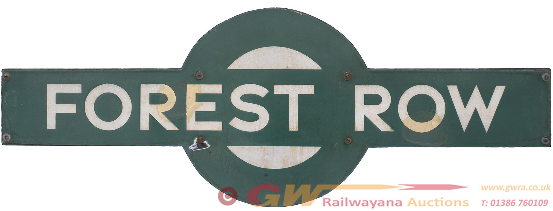 Southern Railway Enamel Target Station Sign FOREST
