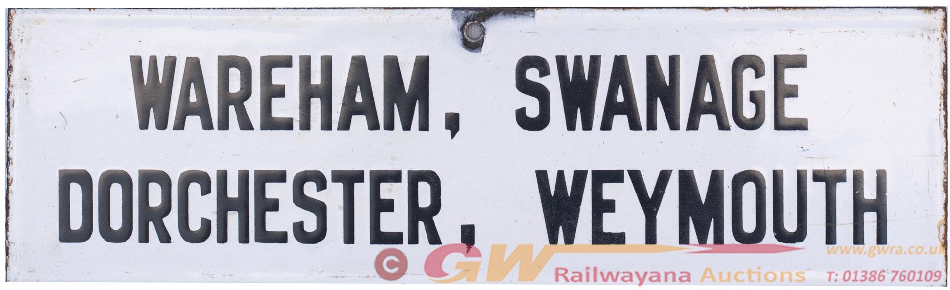 London & South Western Railway Enamel Platform