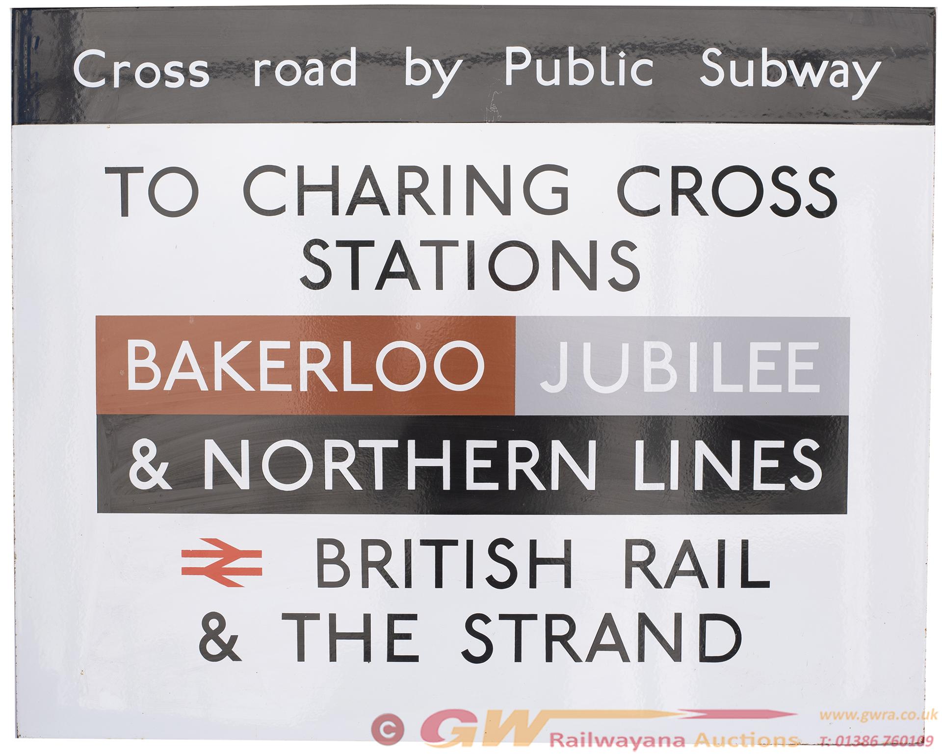 London Transport Underground Enamel Sign CROSS