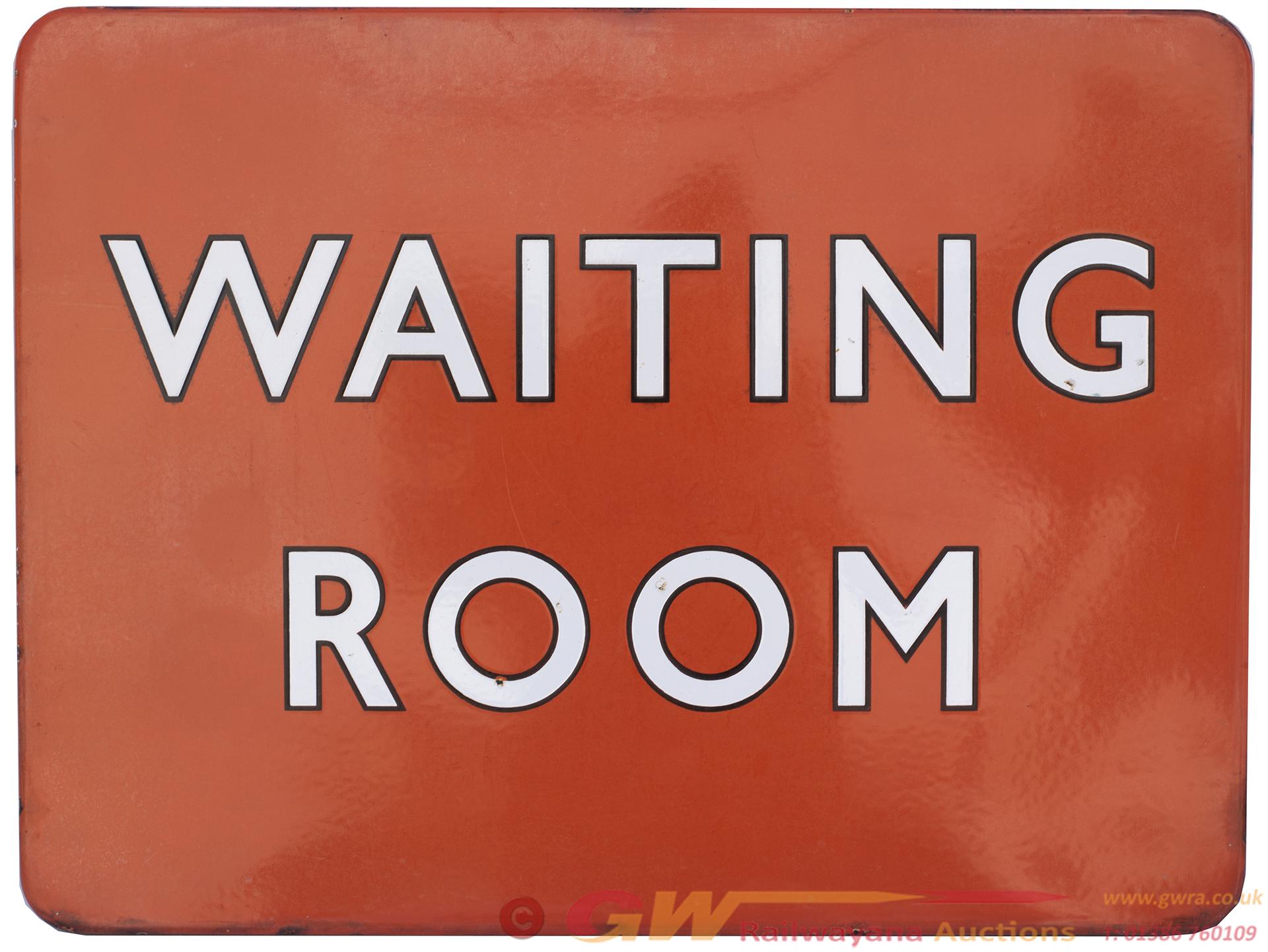 BR(NE) FF Enamel Railway Sign WAITING ROOM With