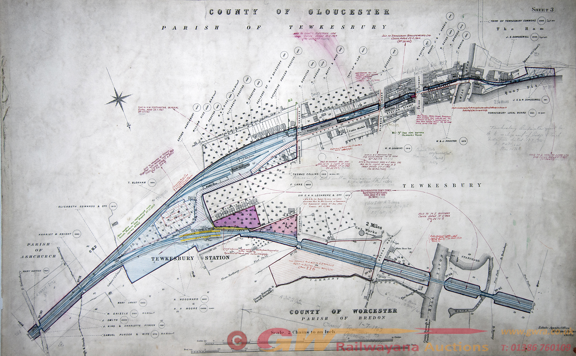 Midland Railway Official Hand Coloured Plans For