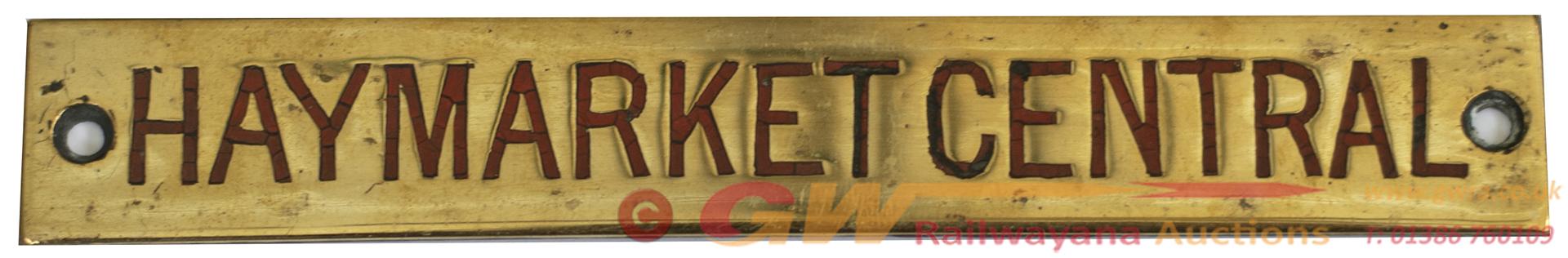 North British Railway Brass Signal Box Shelfplate