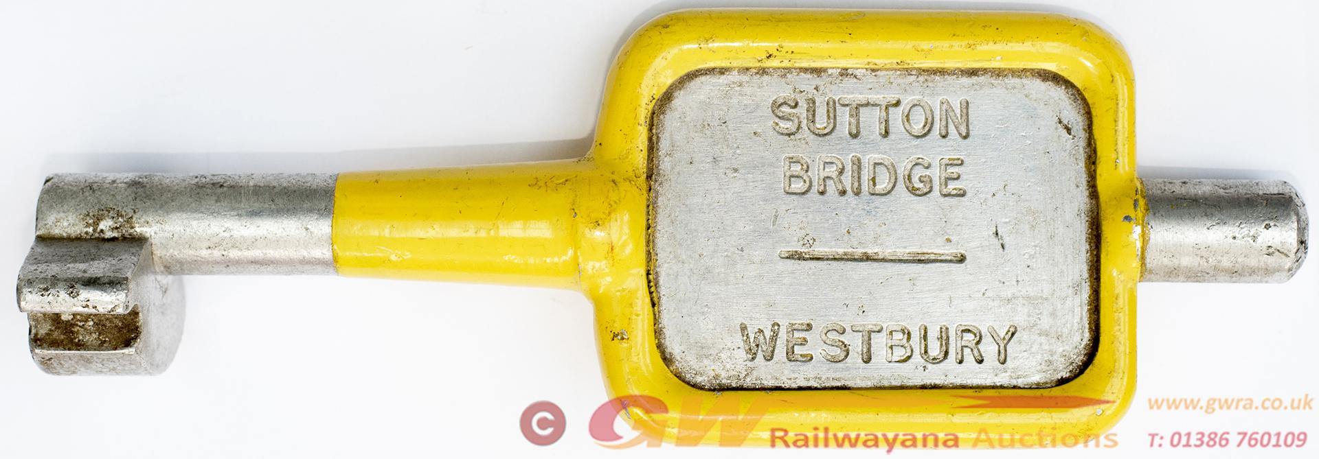 GWR/BR-W Tyers no9 Single Line Aluminium Key Token