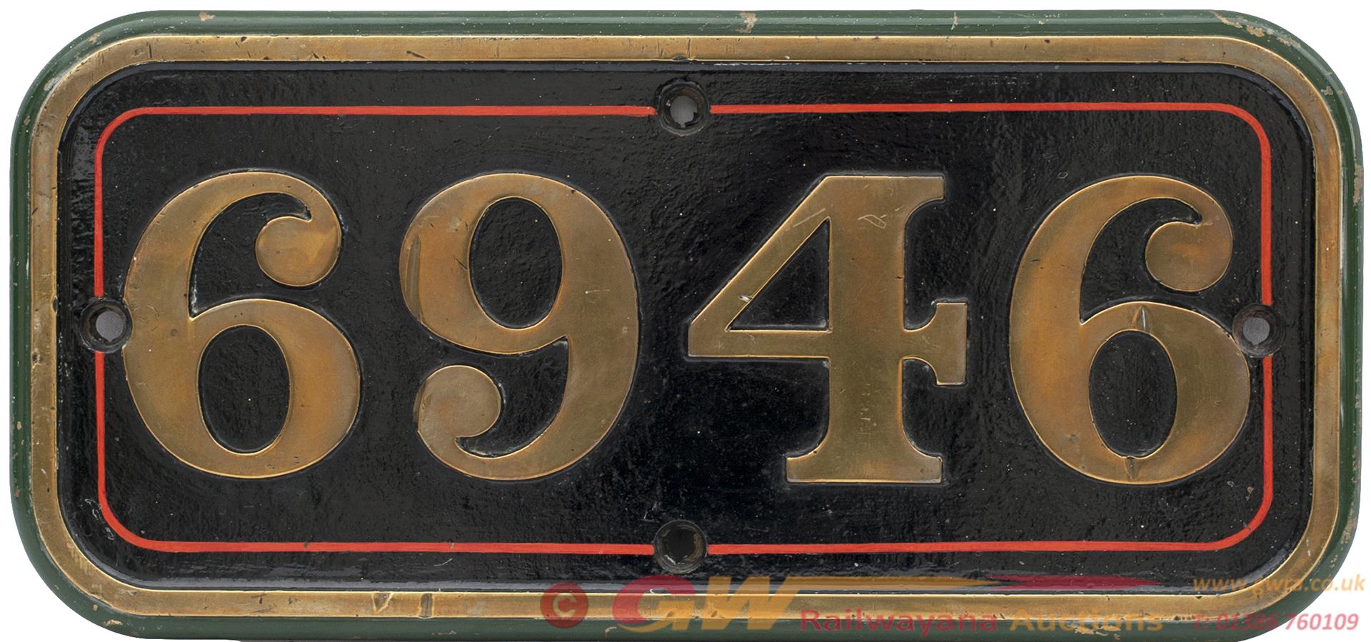 GWR Brass Cabside 6946 Ex GWR Hall 4-6-0
