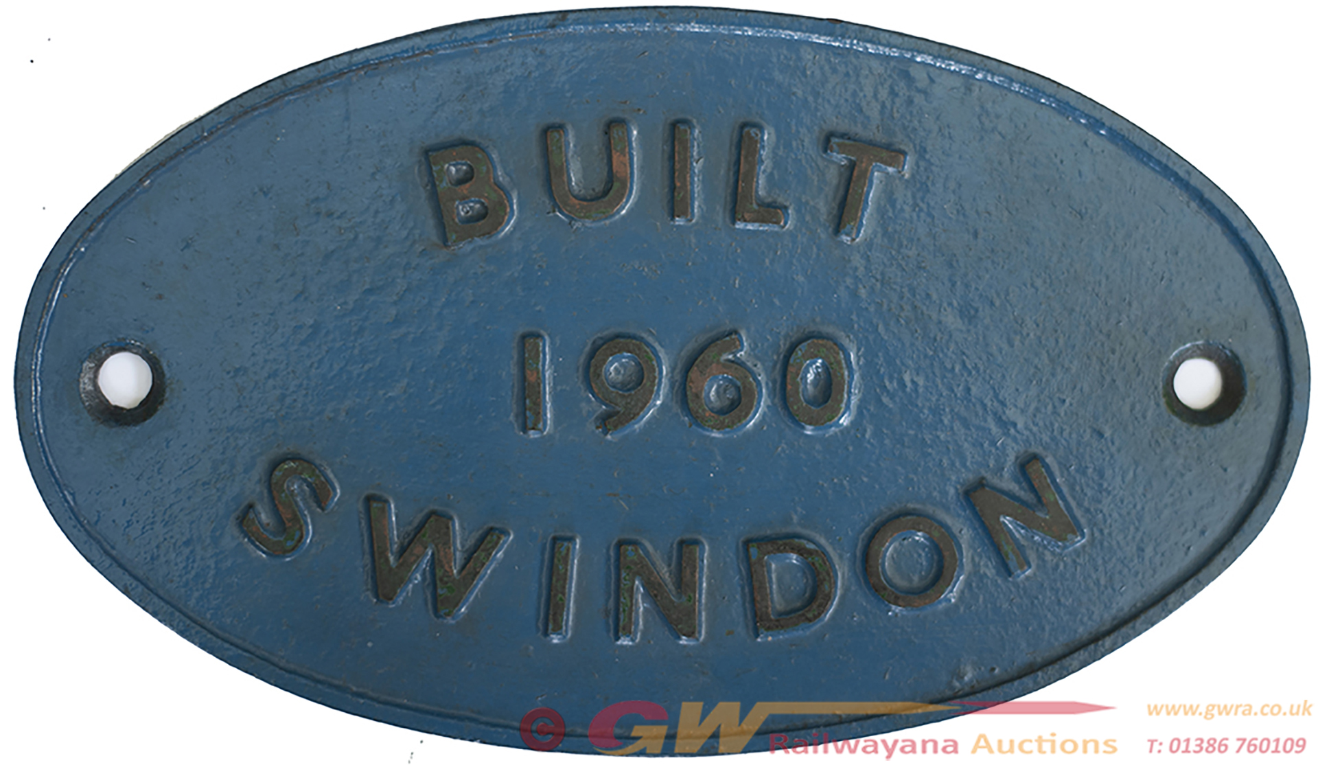 Worksplate BUILT 1960 SWINDON Ex British Railways