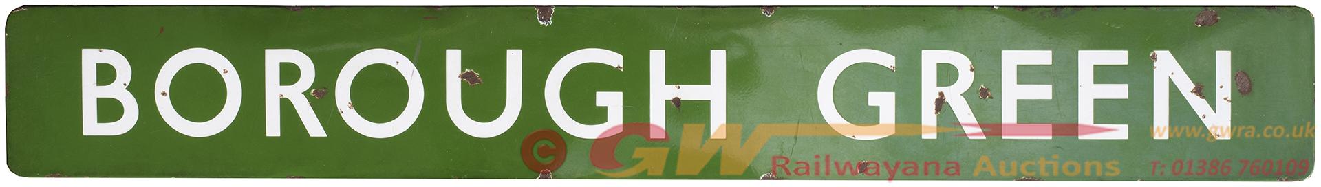 <P>BR(S) FF Enamel Signal Box Board BOROUGH GREEN