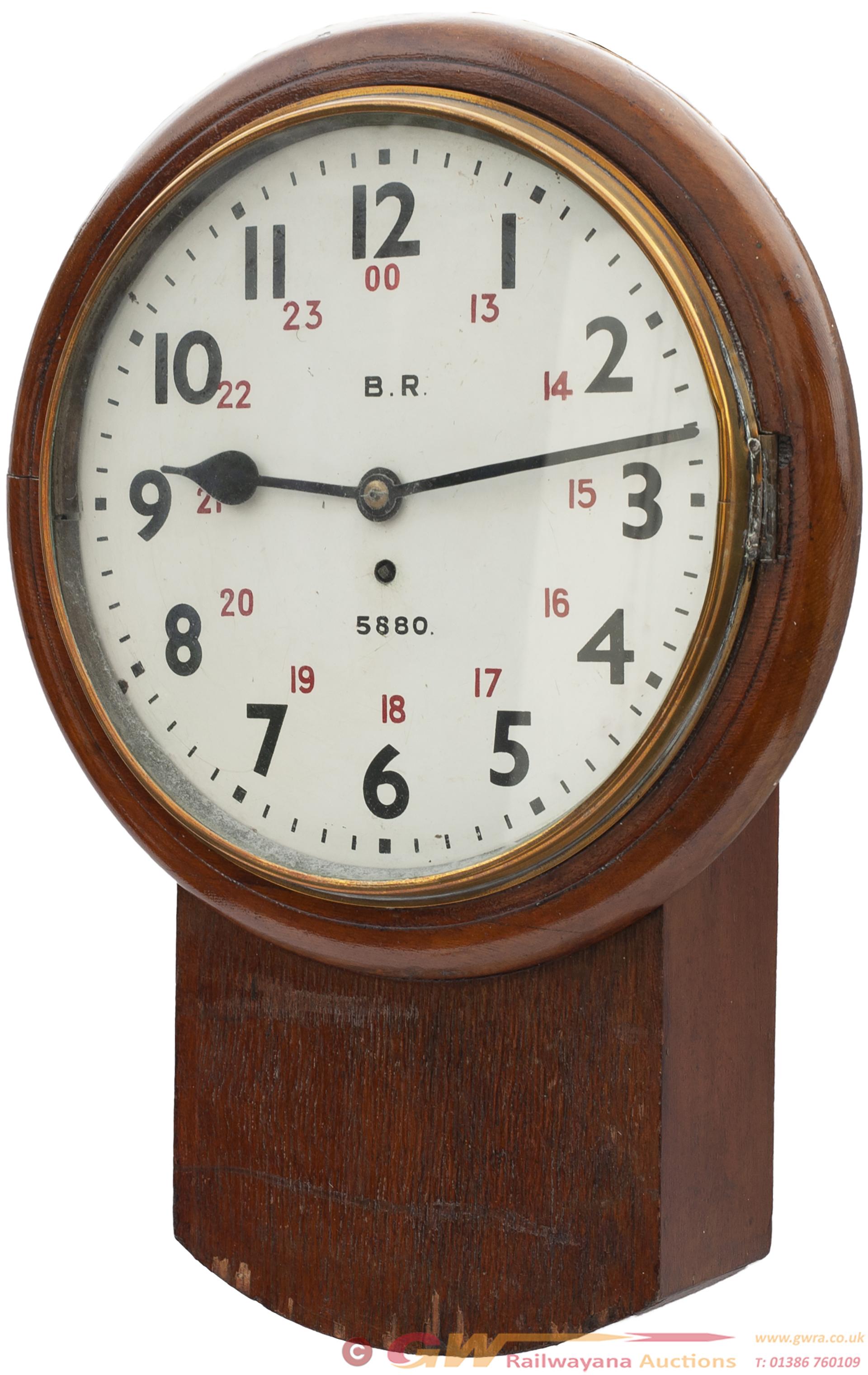 North Eastern Railway 12in Oak Cased Drop Dial
