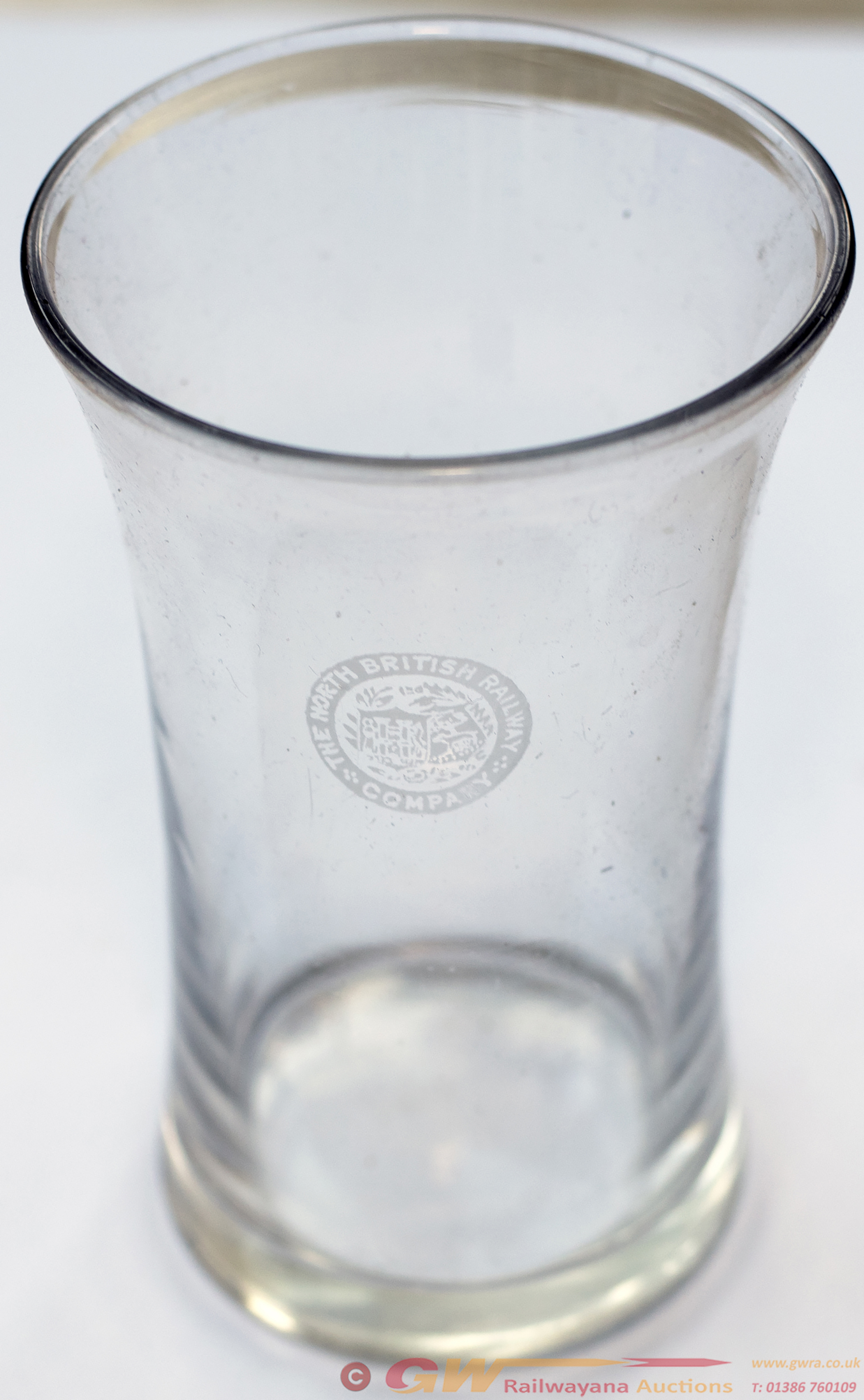North British Railway Pint Glass Marked On The