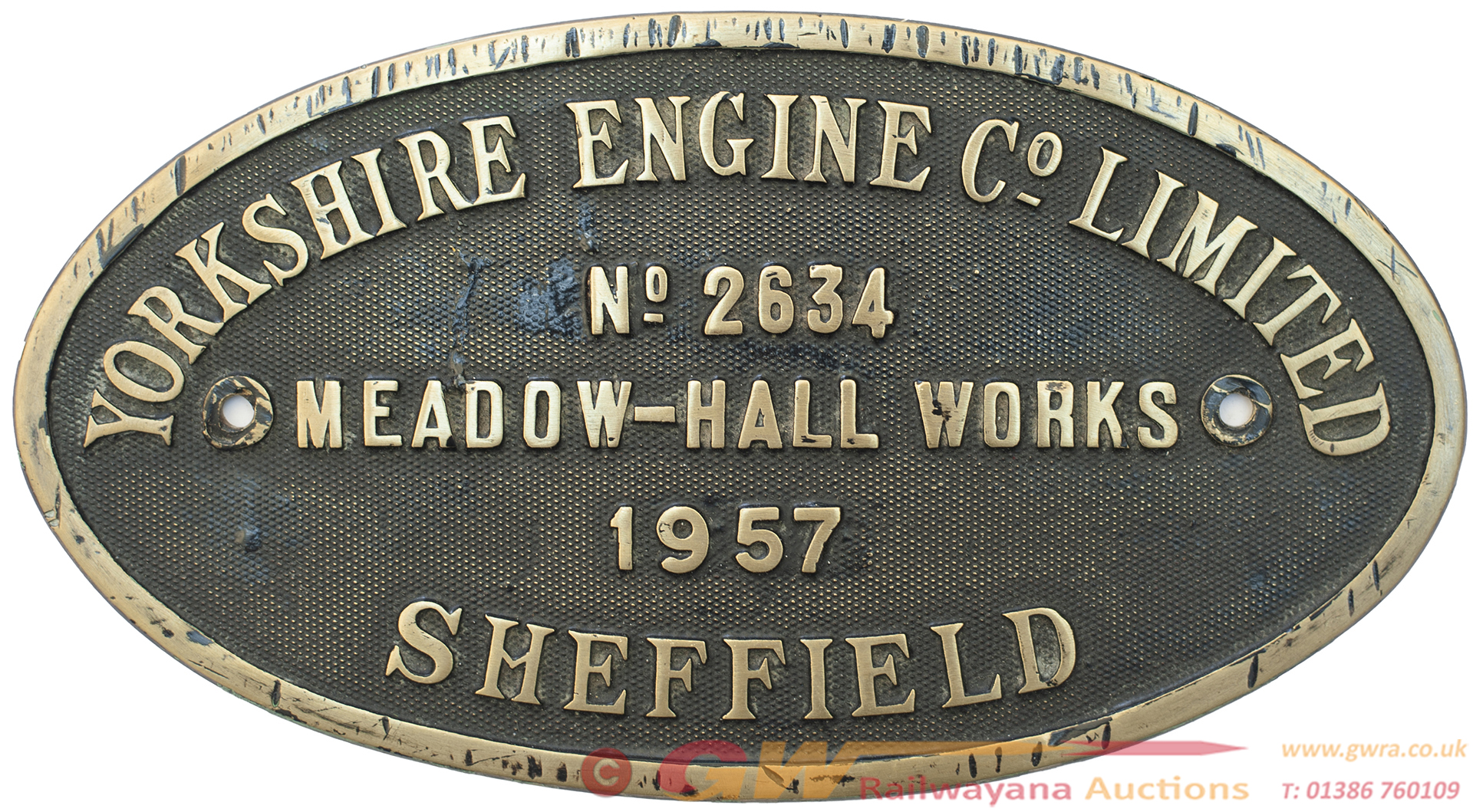 Worksplate YORKSHIRE ENGINE CO LIMITED MEADOW HALL