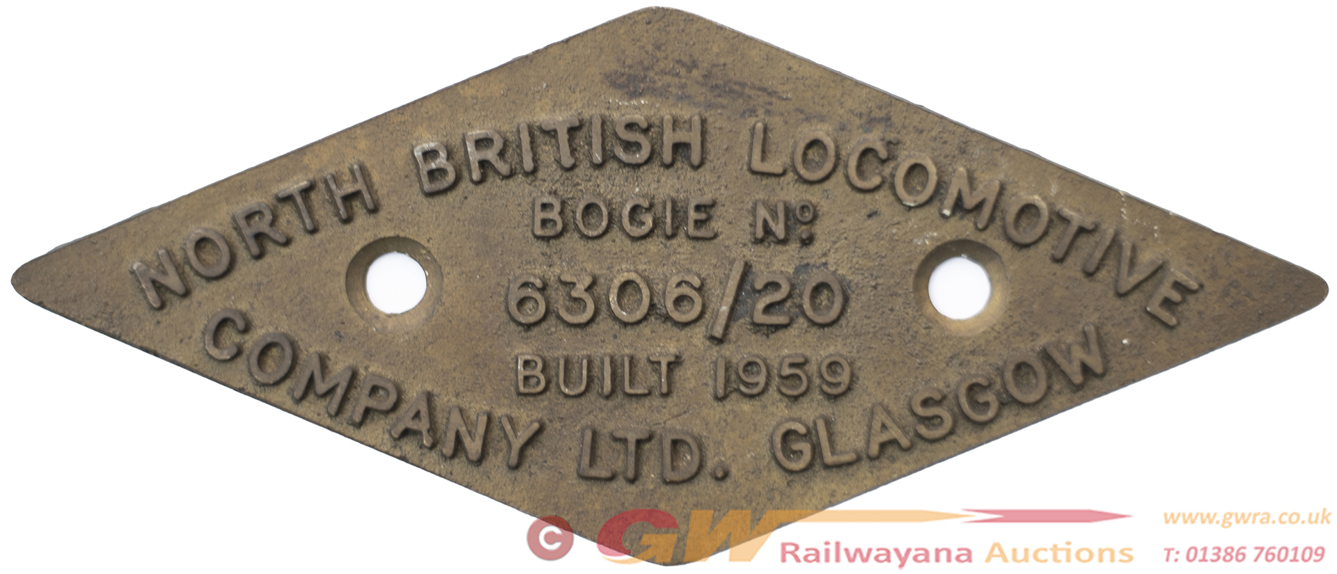Diesel Bogie Plate NORTH BRITISH LOCOMOTIVE