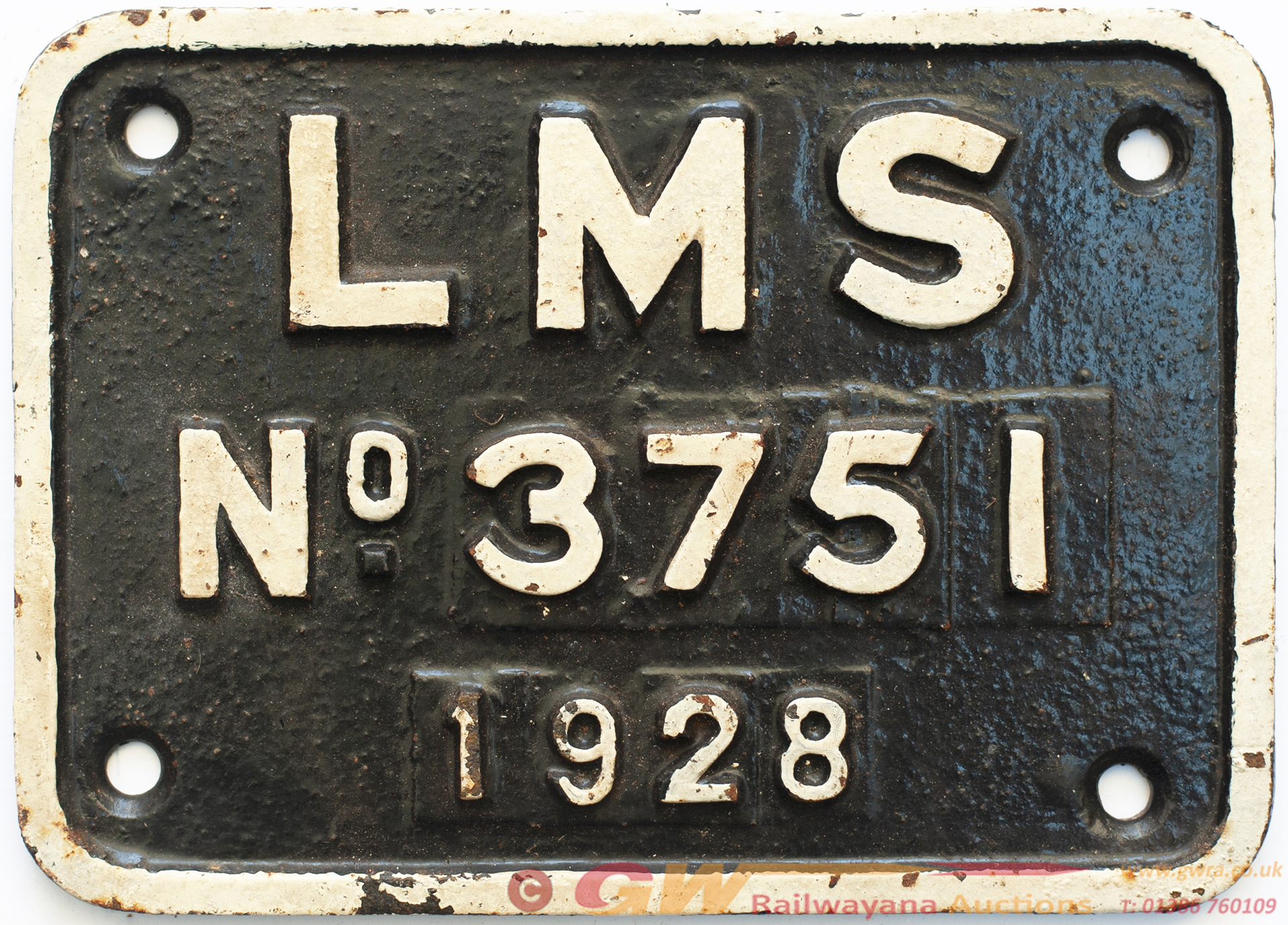 Tenderplate LMS No 3751 1928 Ex Fowler 4f 0-6-0