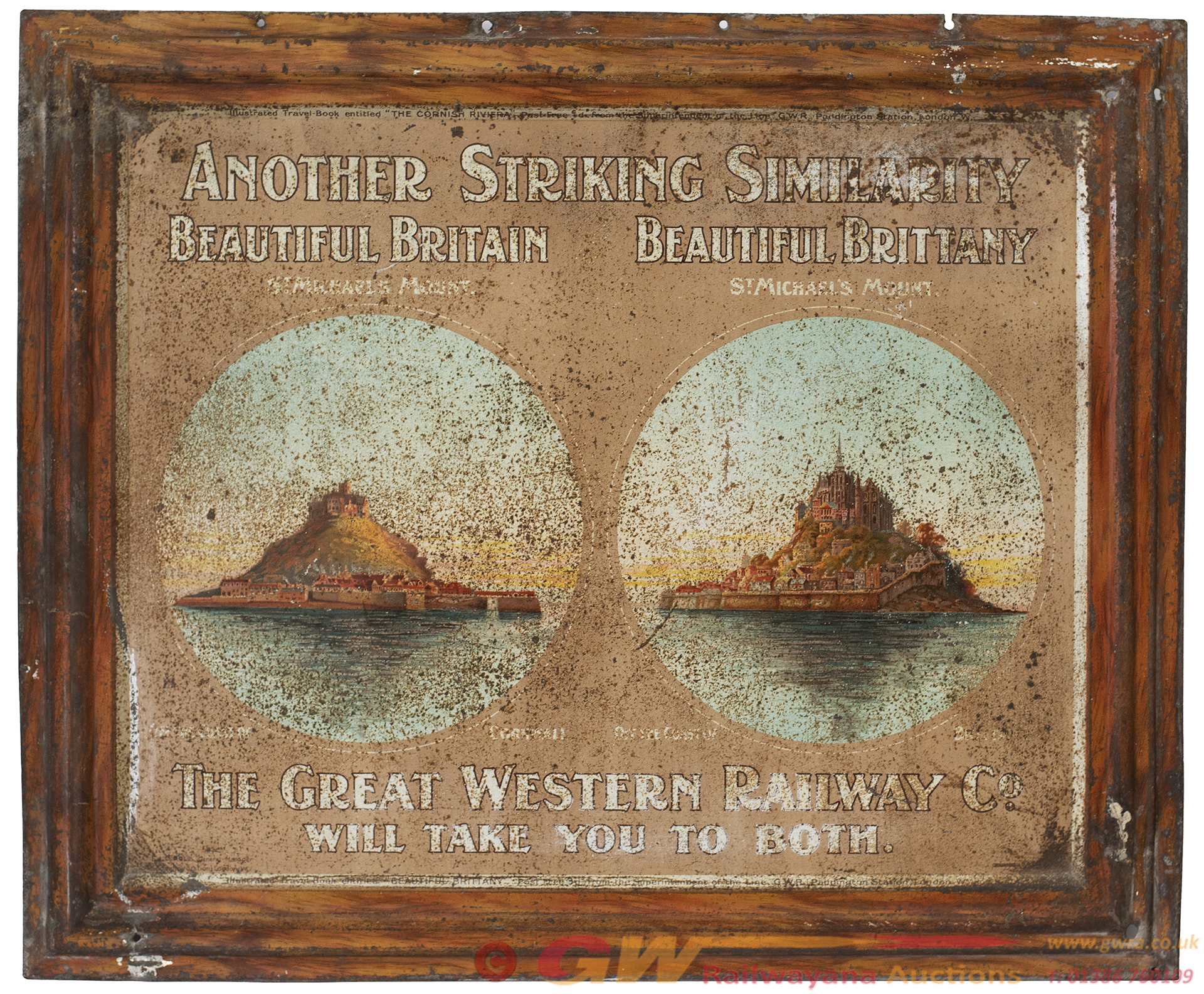 GWR Advertising Tinplate Wall Sign ANOTHER