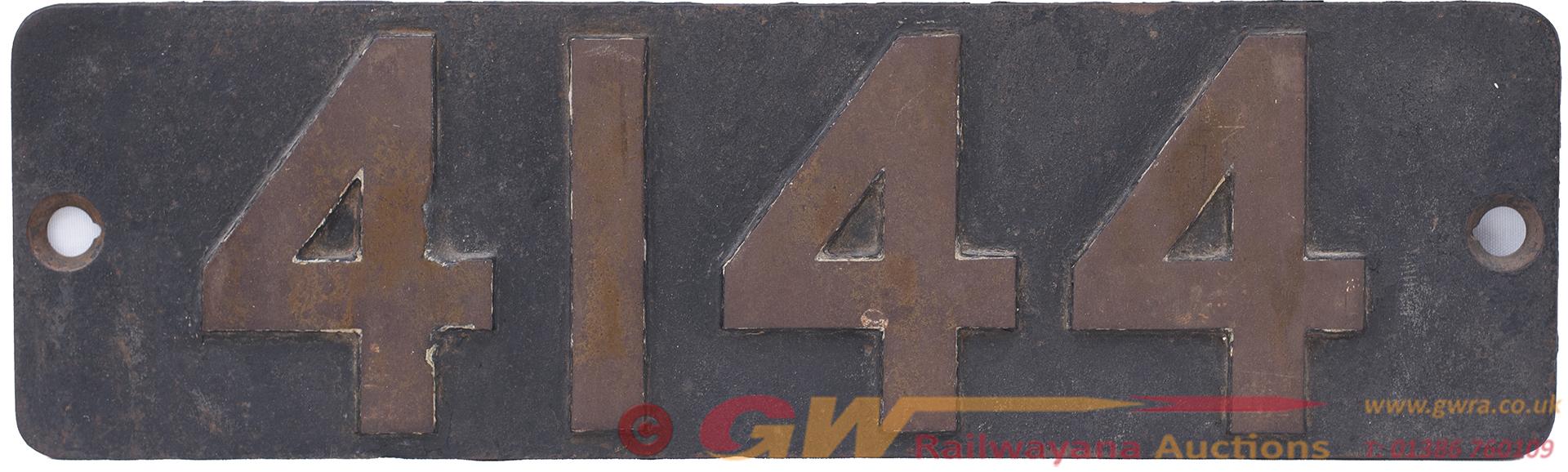 Smokebox Numberplate 4144 Ex GWR Collett 2-6-2 T