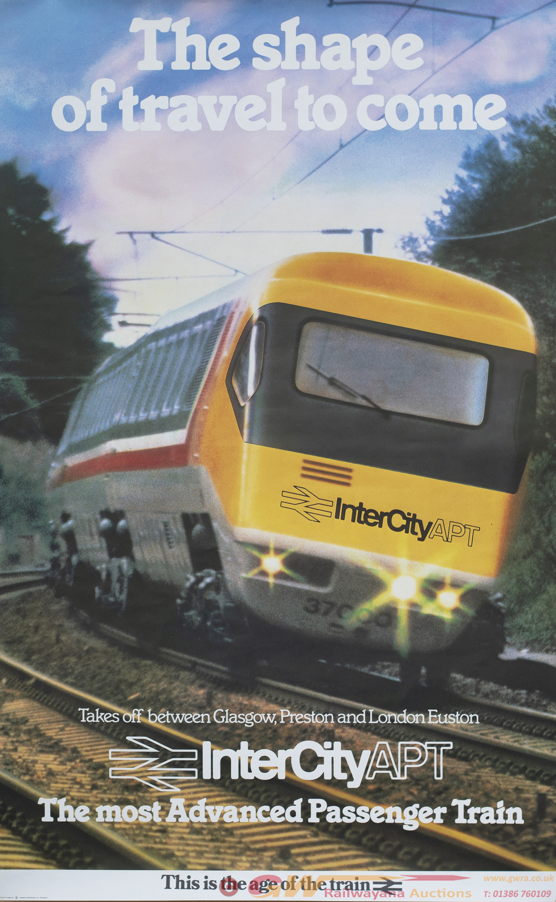 Poster BR THE SHAPE OF TRAVEL TO COME INTERCITY