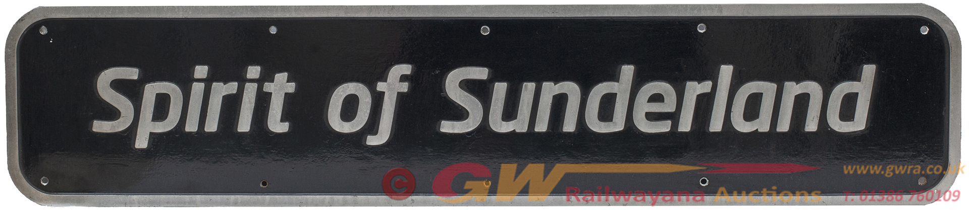 Nameplate SPIRIT OF SUNDERLAND Ex British Railways