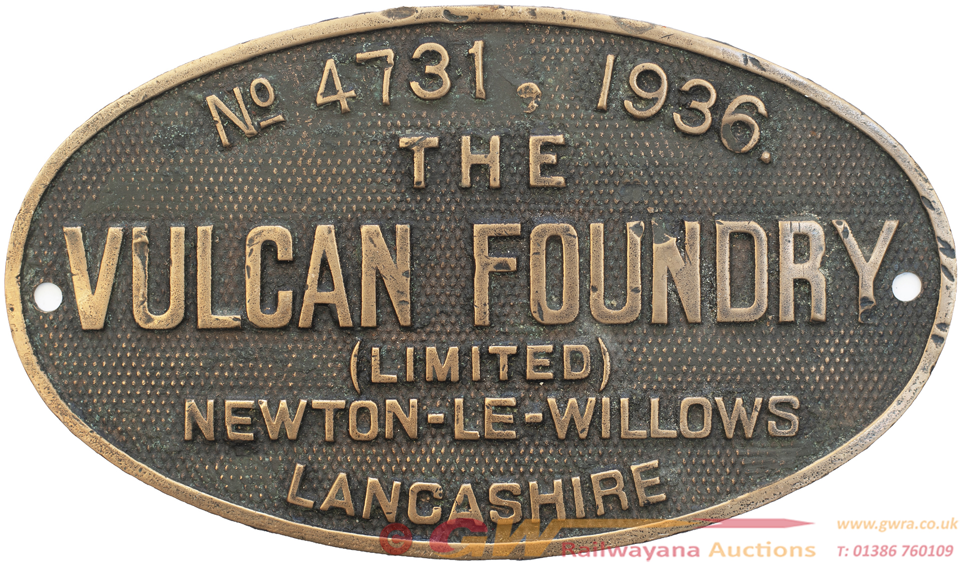 Worksplate THE VULCAN FOUNDRY (LIMITED)