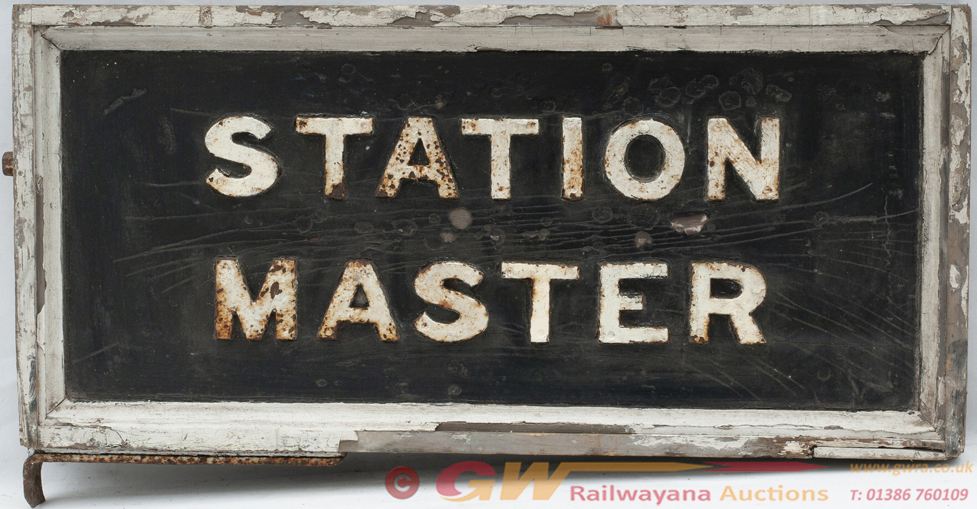 GWR Platform Sign STATION MASTER Double Sided Wood