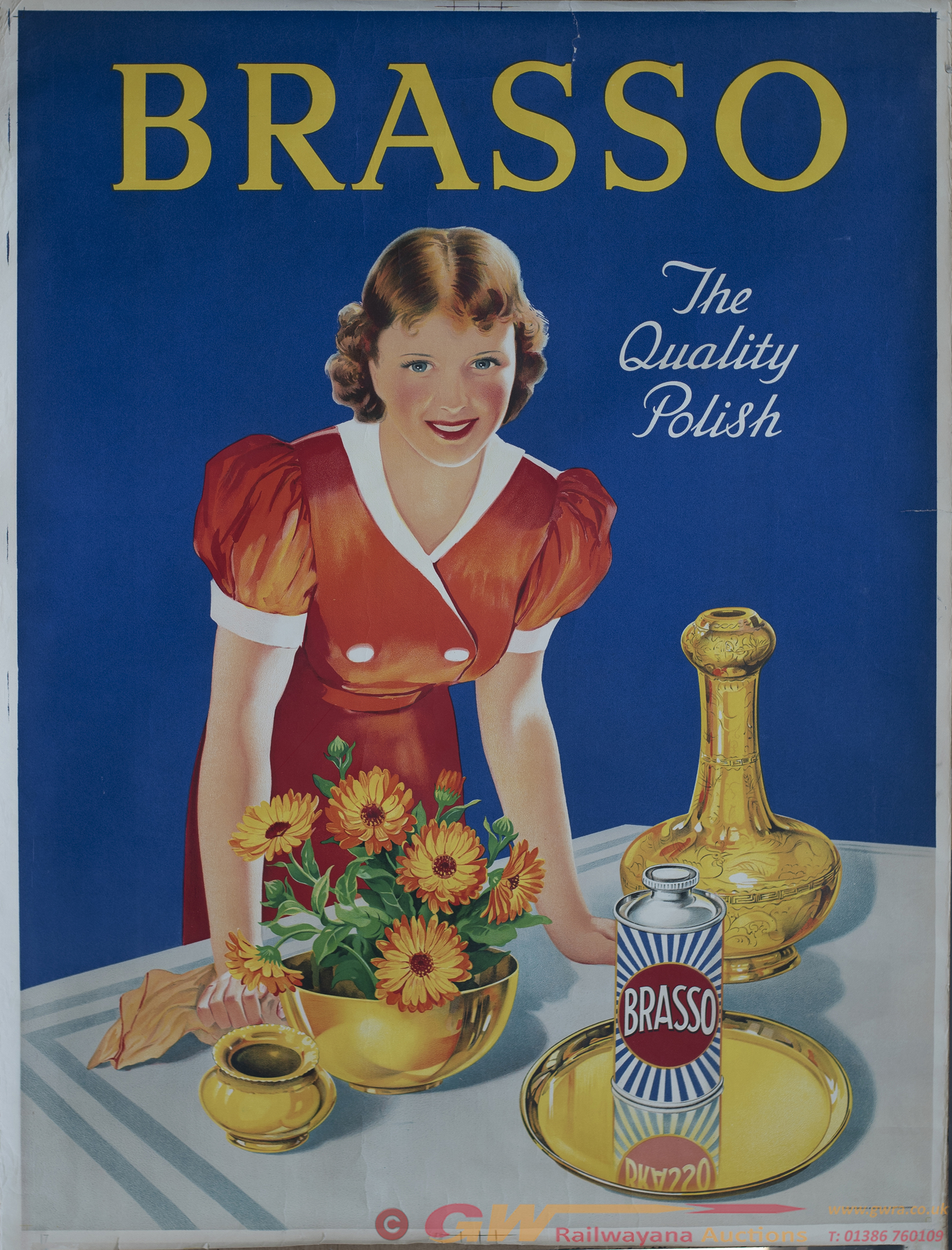 Poster BRASSO THE QUALITY POLISH Printed By Thos.