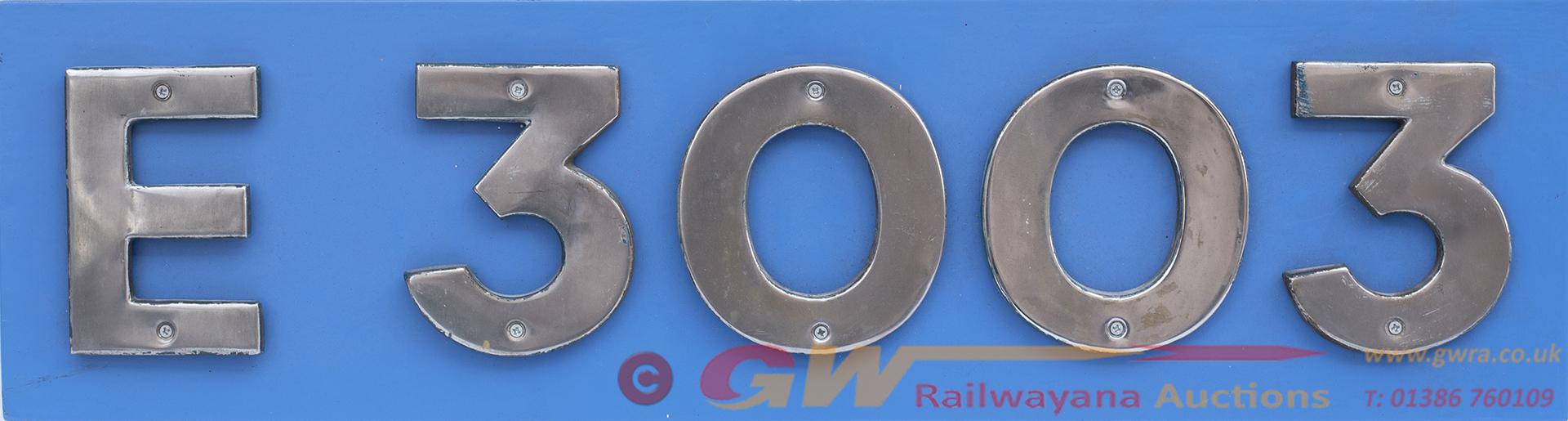 Cabside Numbers e3003 Ex British Railways Electric