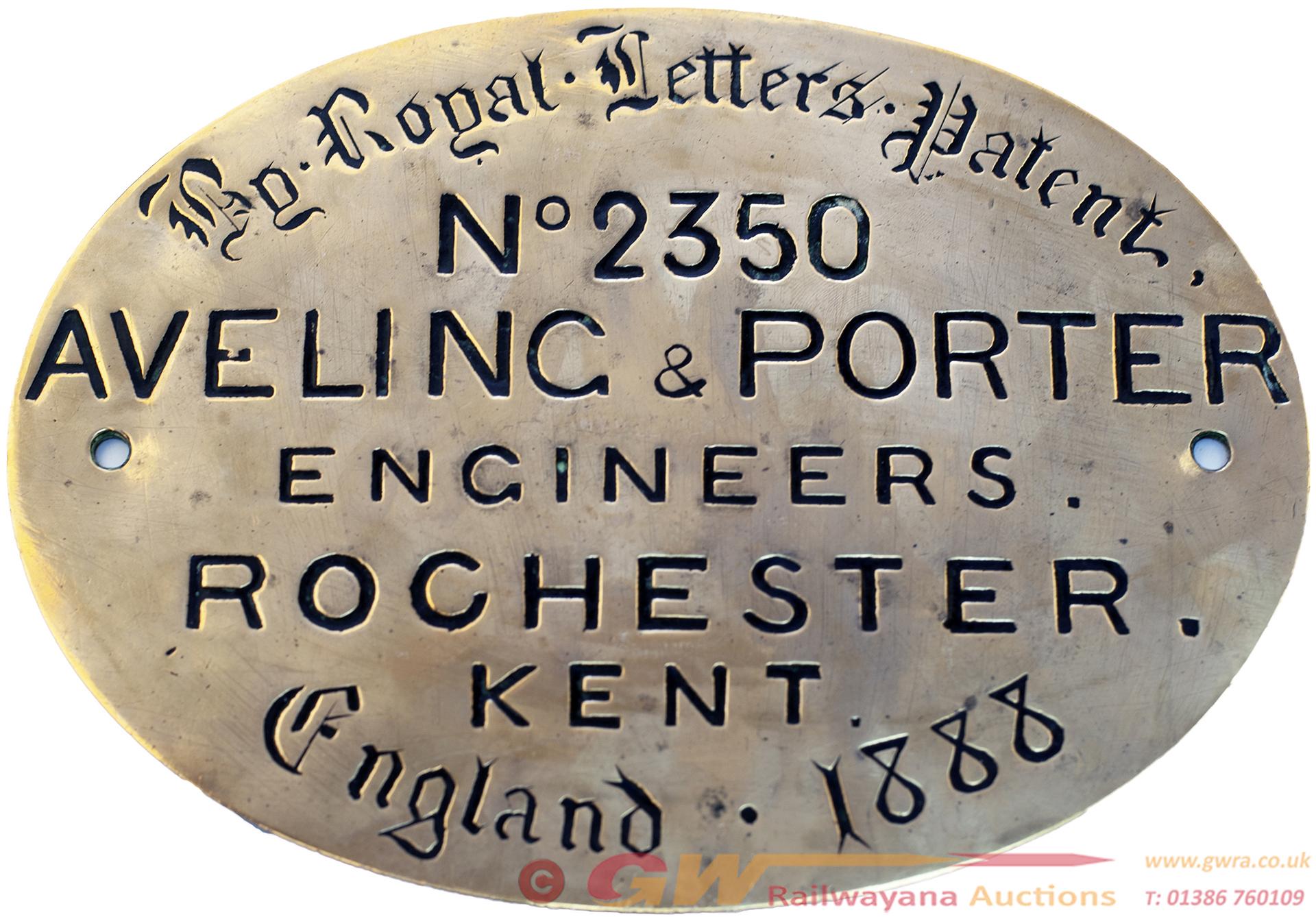 Worksplate AVELING & PORTER ENGINEERS ROCHESTER