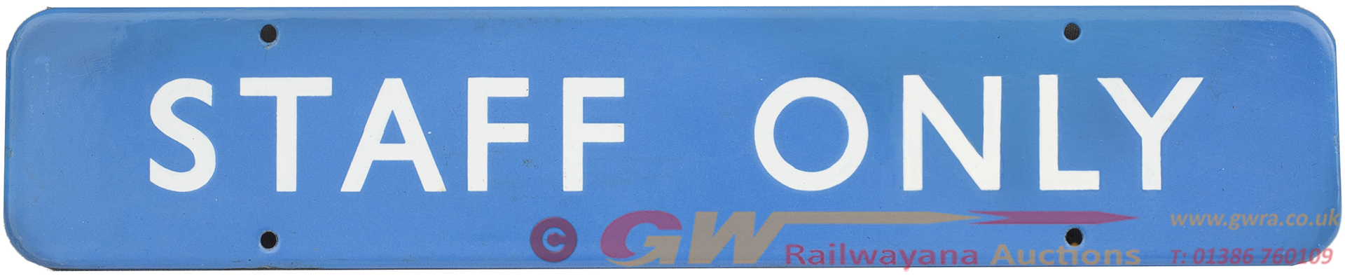 BR(SC) FF Enamel Doorplate STAFF ONLY Measuring