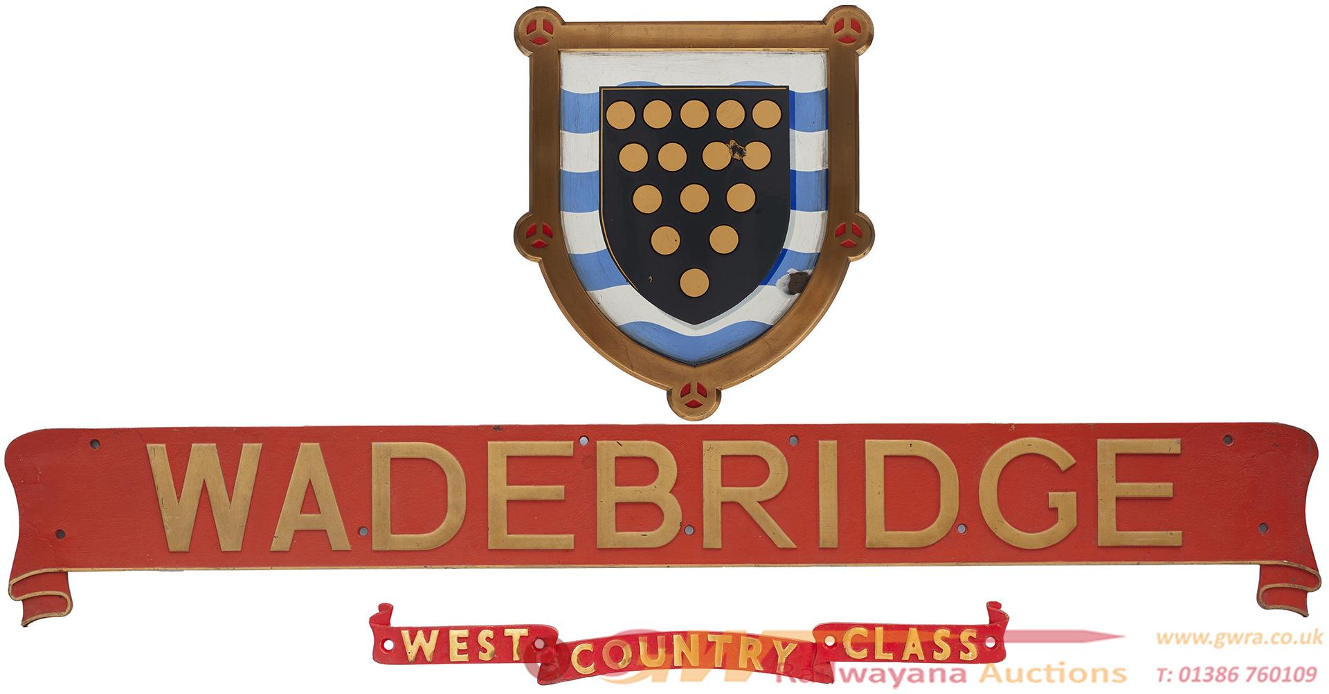 Nameplate WADEBRIDGE Ex Bullied West Country Light
