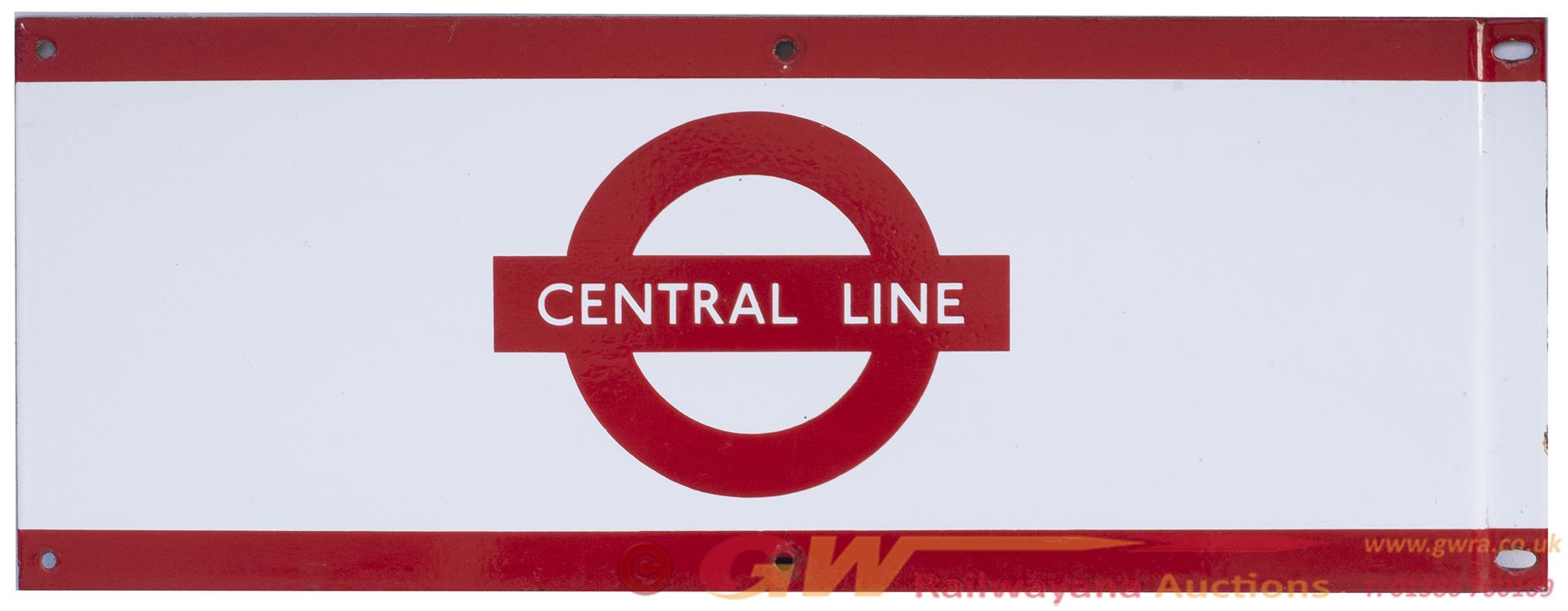 London Underground Enamel Station Frieze Sign