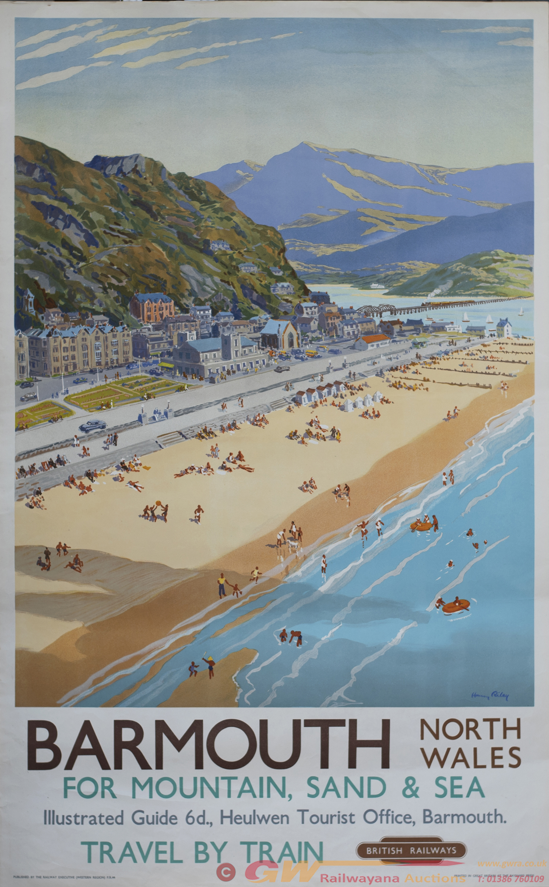 Poster BR(W) BARMOUTH NORTH WALES FOR MOUNTAIN,