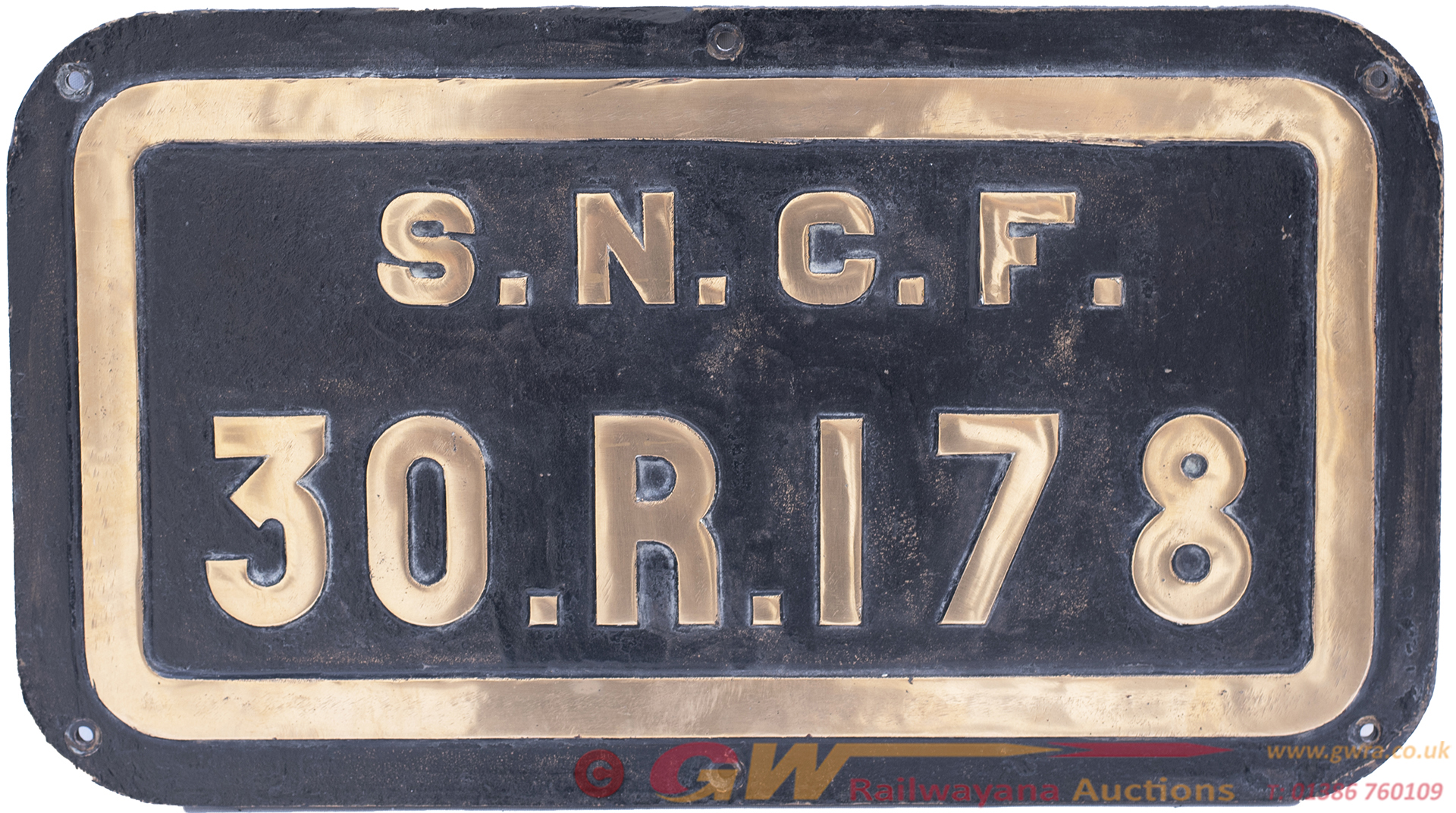 SNCF Brass Tenderplate SNCF 30r 178 Ex SNCF 141r