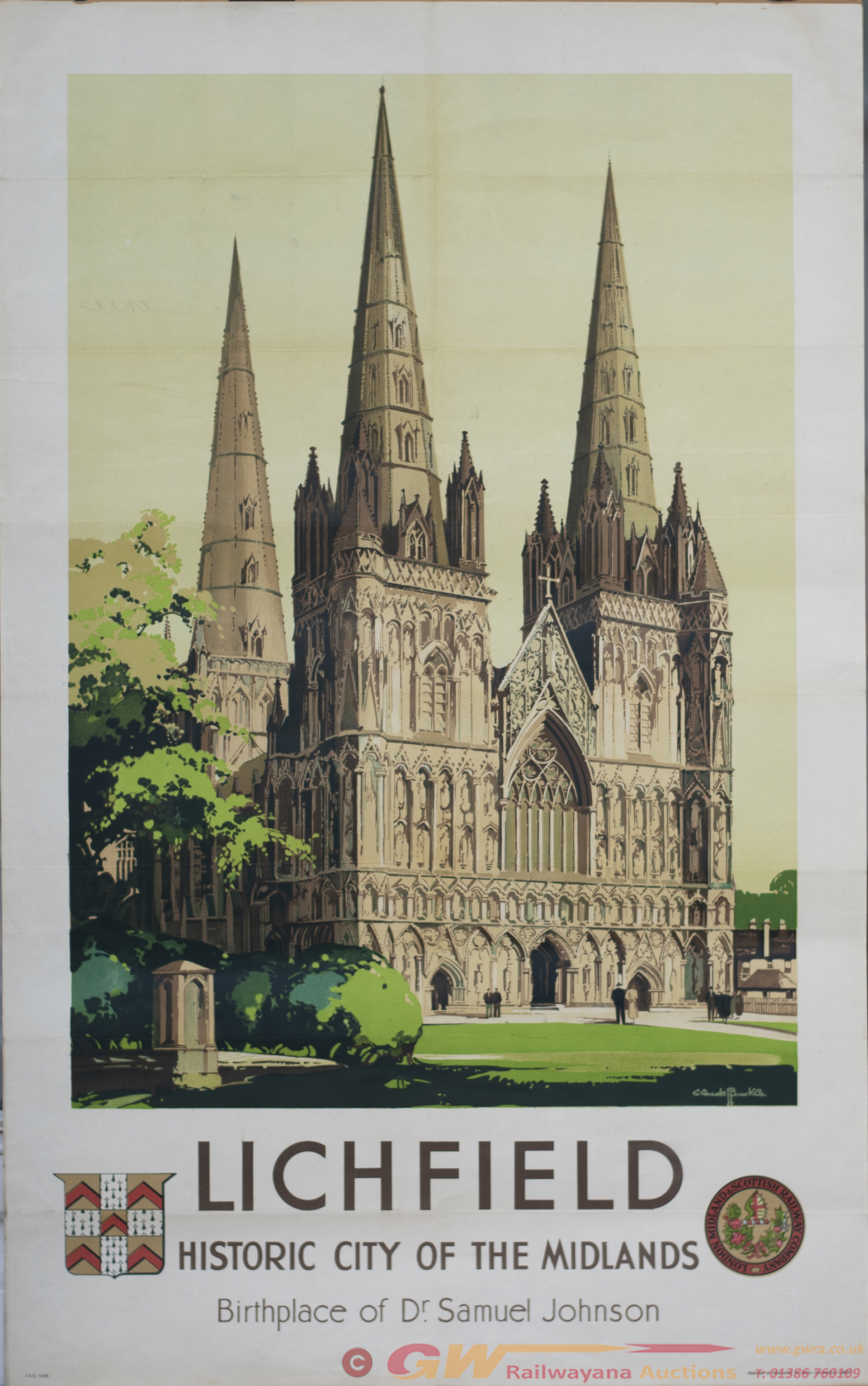 Poster LMS LICHFIELD HISTORIC CITY OF THE MIDLANDS