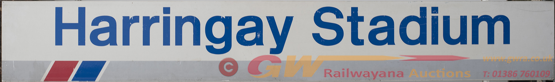 Network South East Station Sign HARRINGAY STADIUM