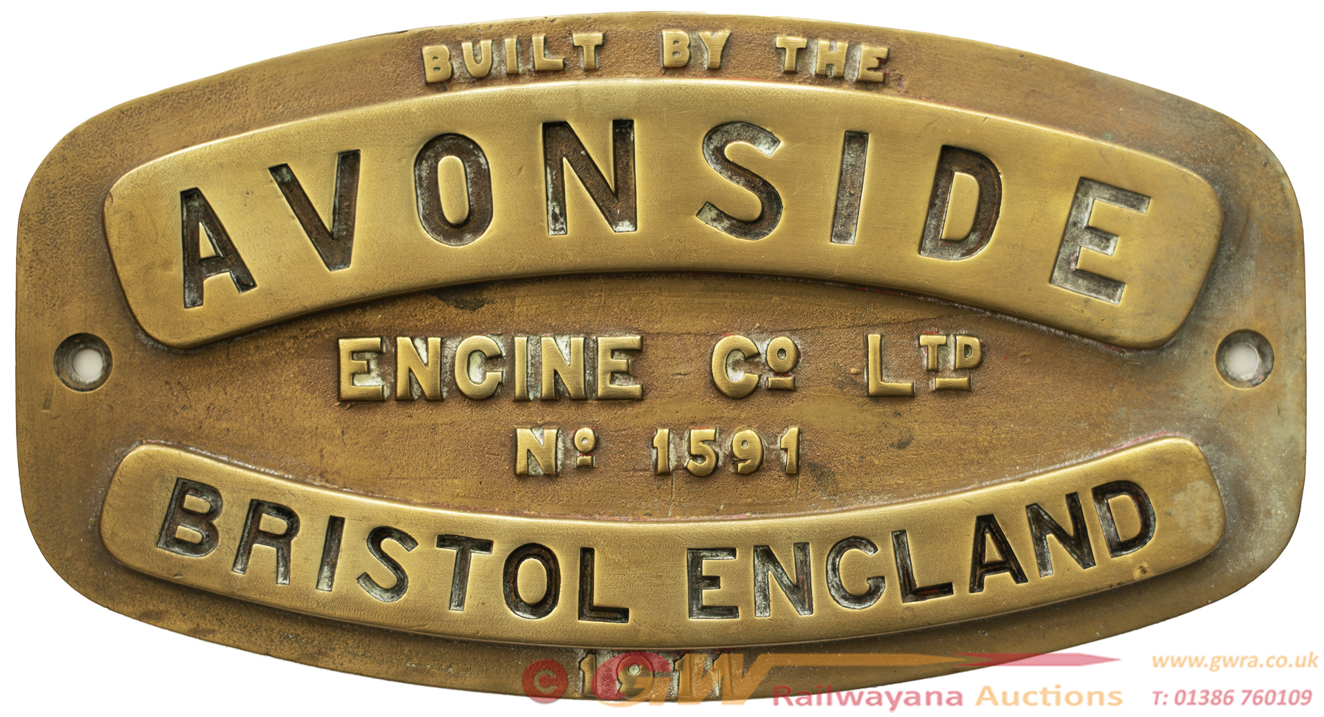 Worksplate AVONSIDE BRISTOL ENGLAND ENGINE Co LTD