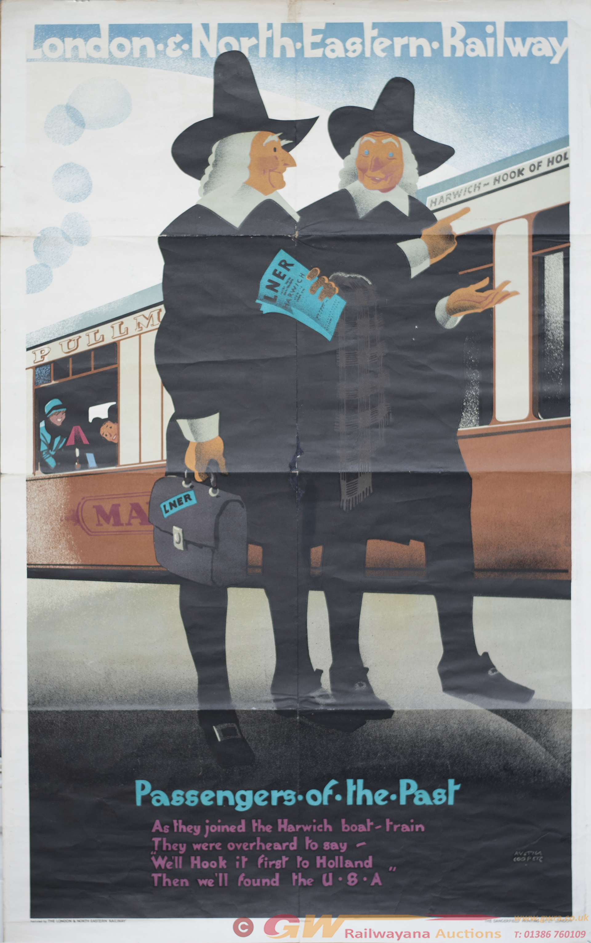 Poster LNER PASSENGERS OF THE PAST By Austin