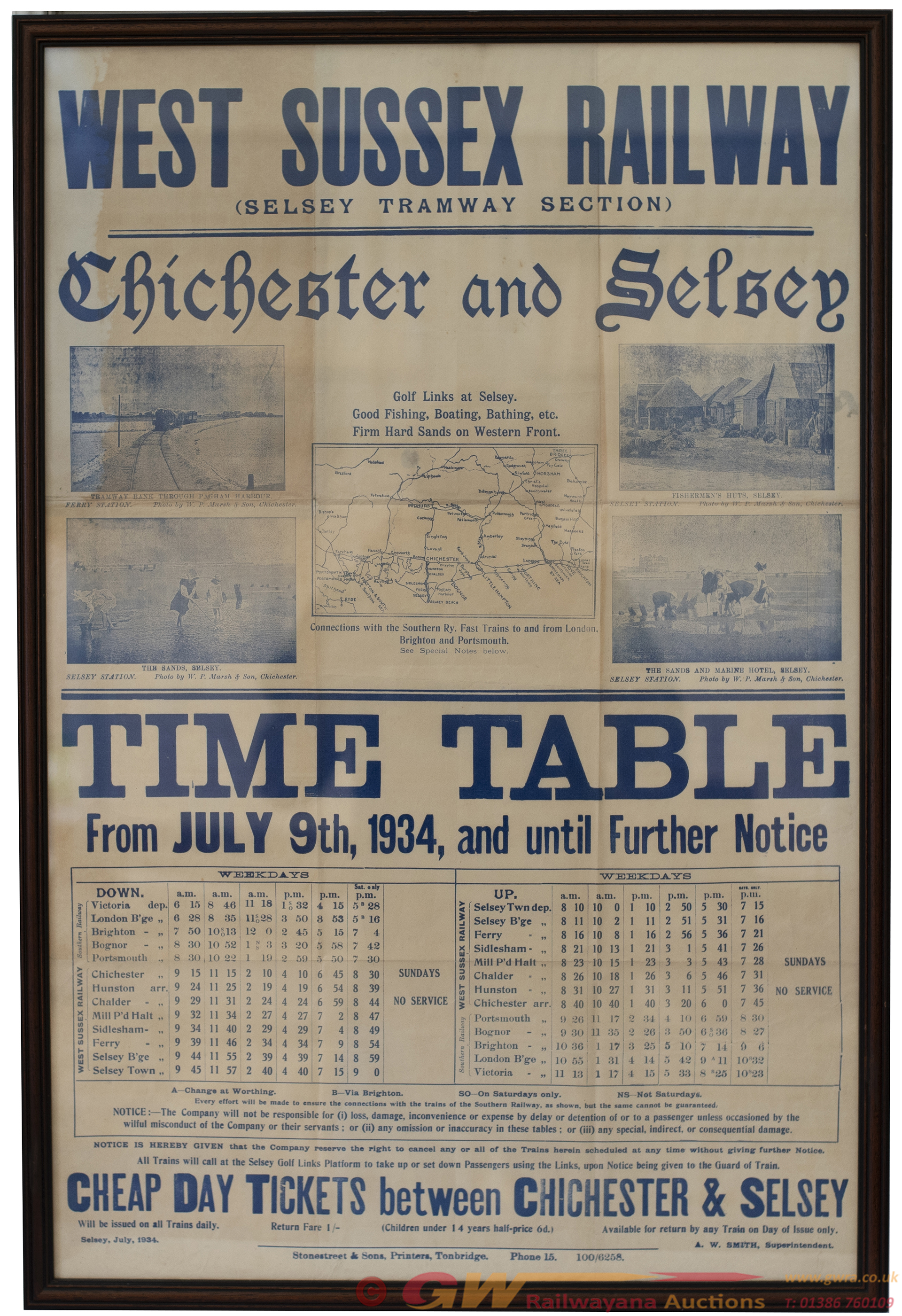Poster WEST SUSSEX RAILWAY (SELSEY TRAMWAY