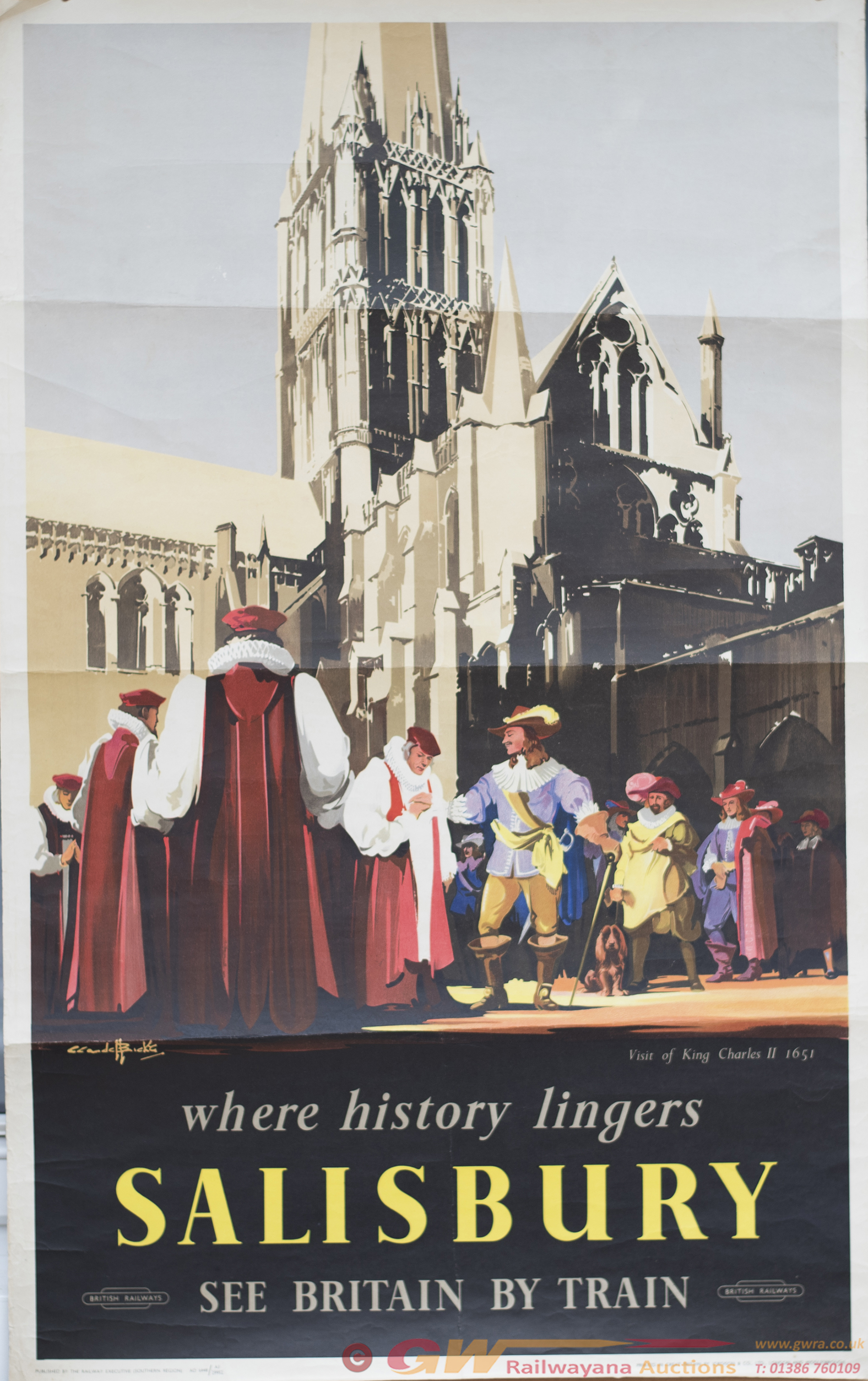 Poster BR(S) WHERE HISTORY LINGERS SALISBURY VISIT