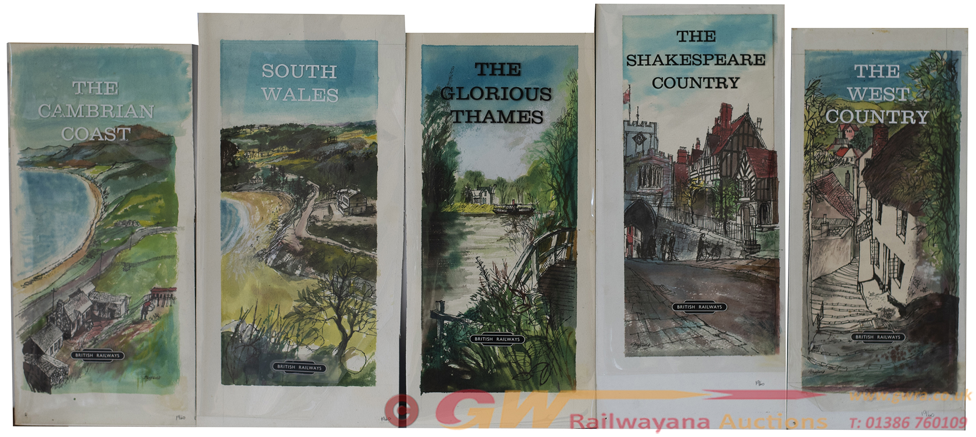 Five Original Artworks THE GLORIOUS THAMES, THE