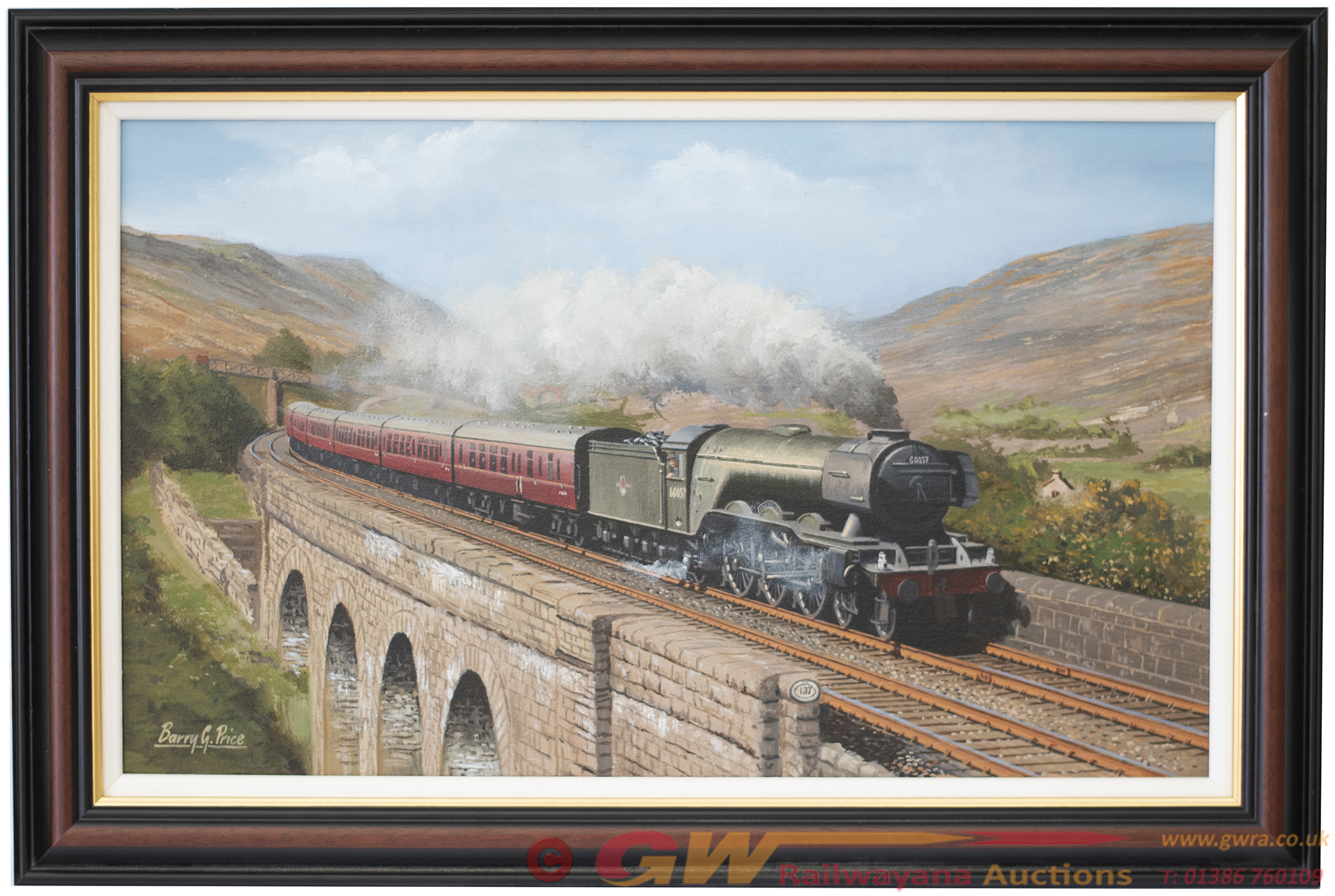 Original Oil Painting On Canvas By Barry Price Of